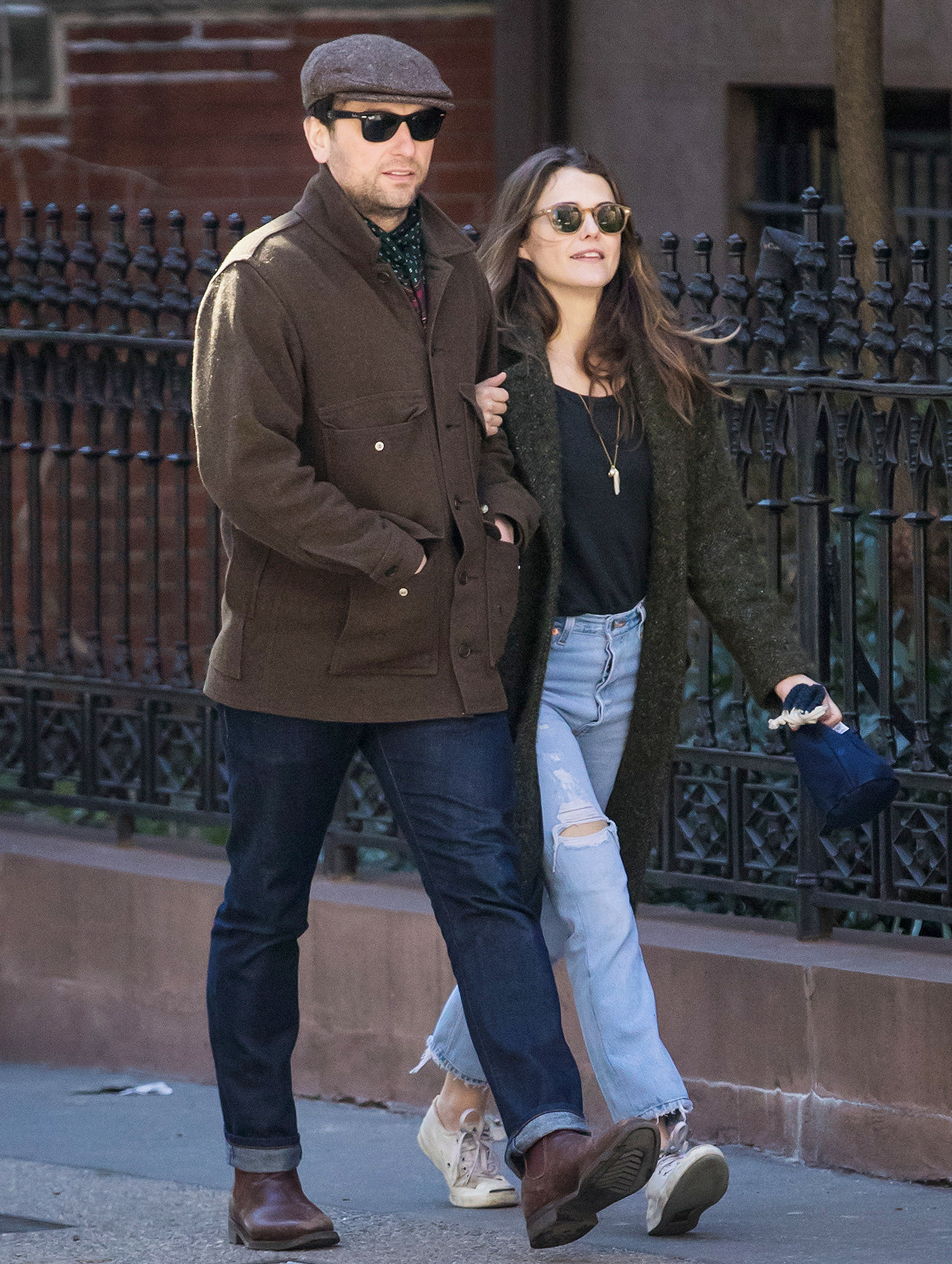 EXCLUSIVE: Keri Russell Steps Out for a Birthday Stroll with Matthew Rhys