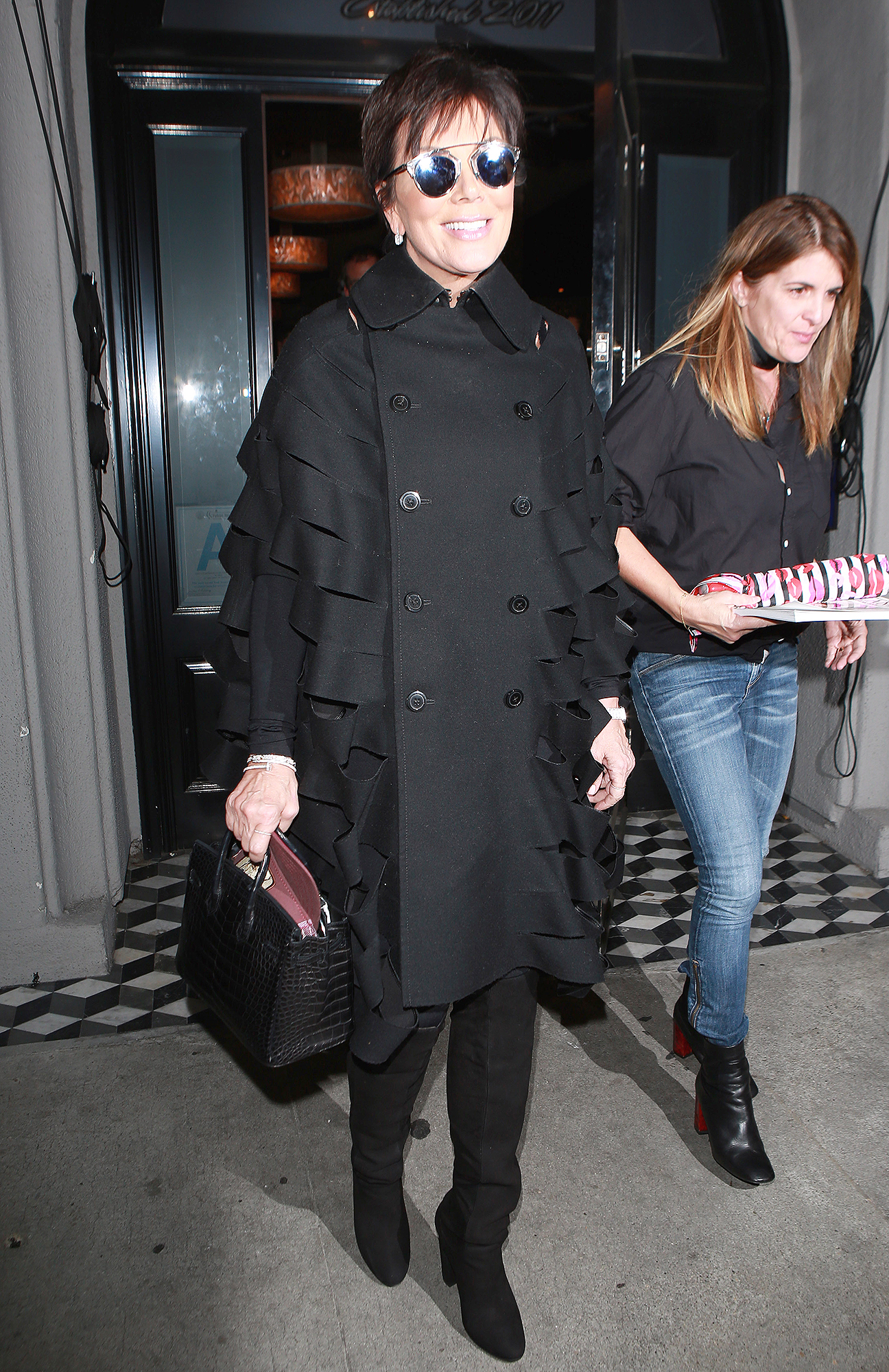 Kris Jenner is beaming after a dinner at Craig's **USA ONLY**