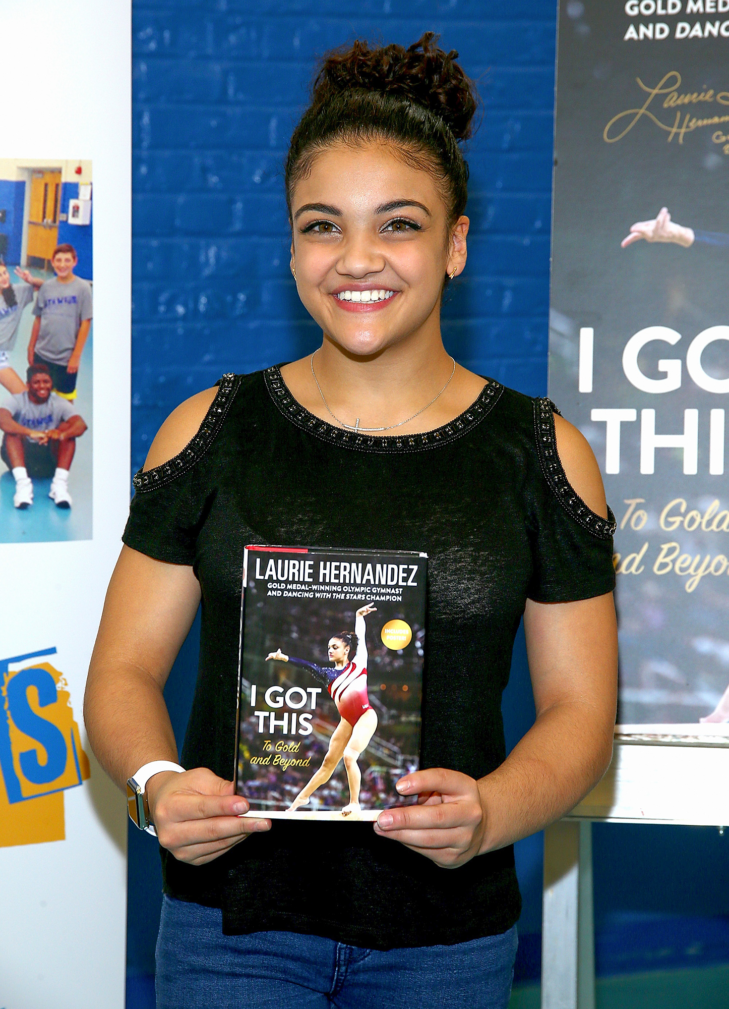 """Laurie Hernandez Signs Copies Of Her New Book """"I Got This: To Gold And Beyond"""""""