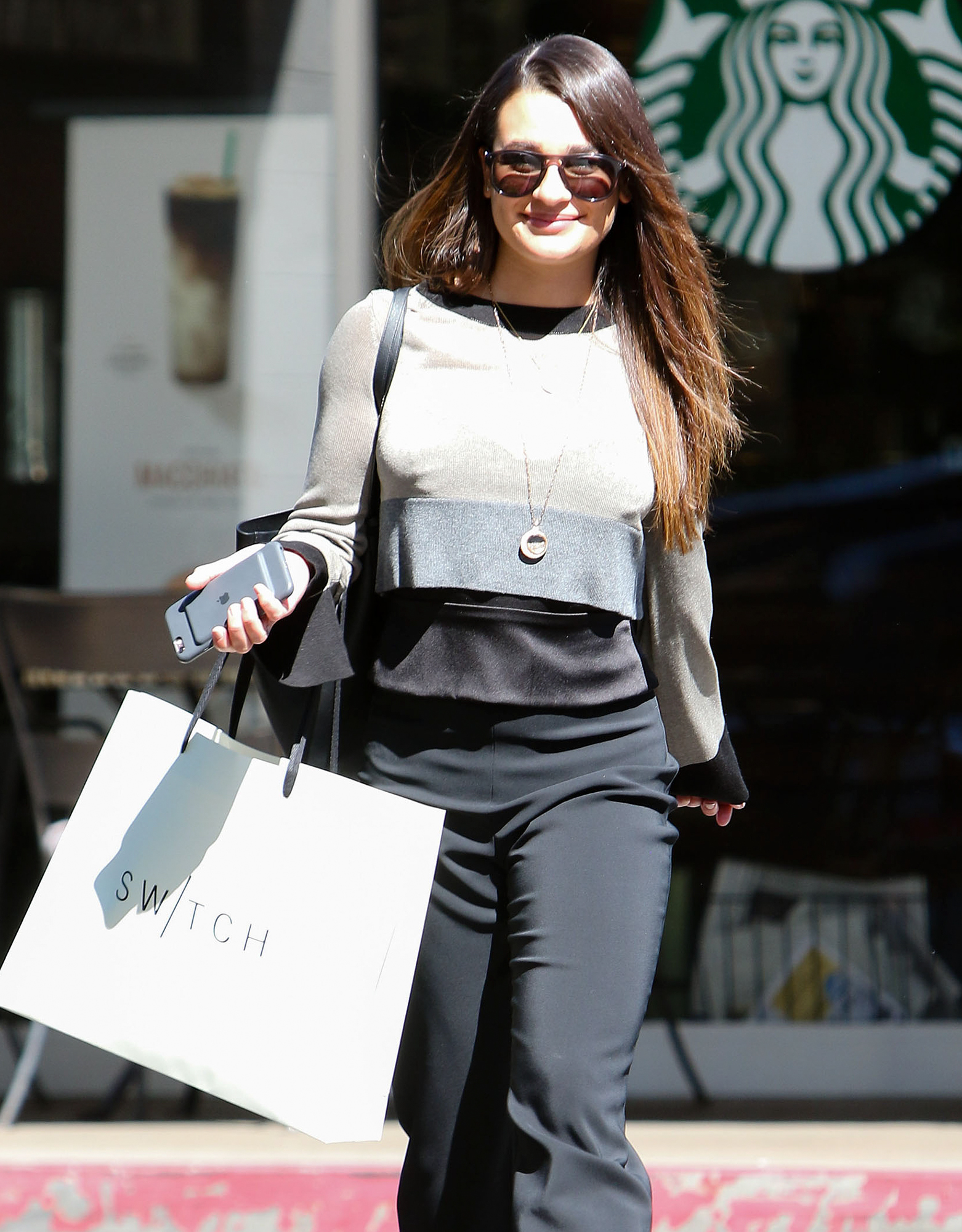 Exclusive... Lea Michele Out Shopping In Bel-Air