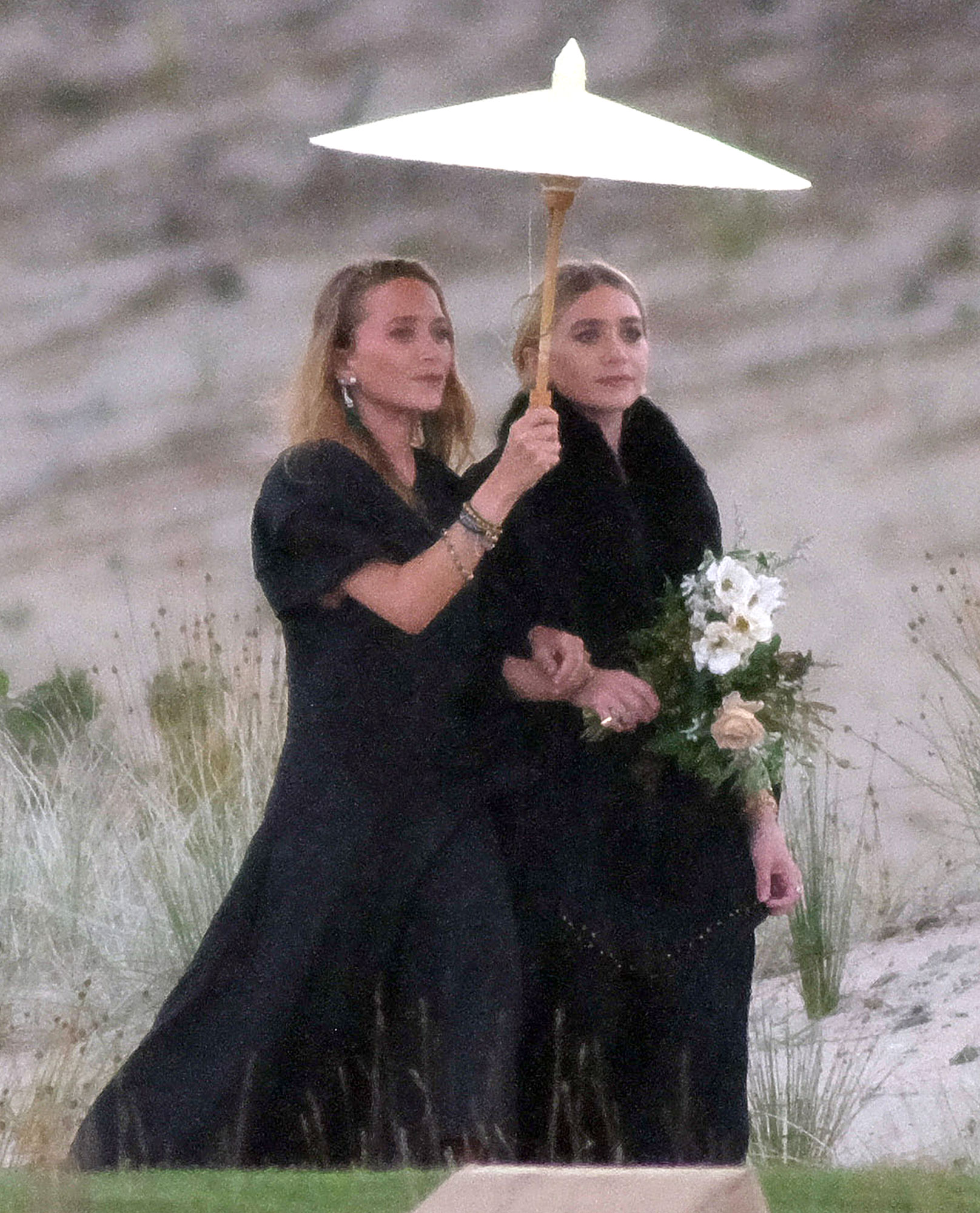 EXCLUSIVE: *NO WEB UNTIL 6AM 9 MARCH AEDT* Mary-Kate and Ashley Olsen are bridesmaids at a pal's wedding
