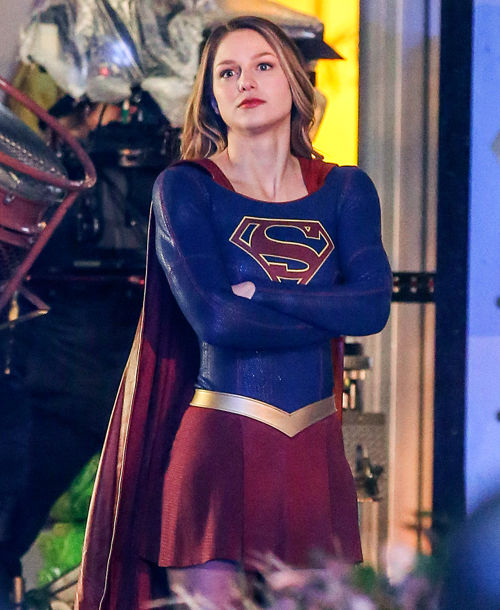 Melissa Benoist is Spotted in Costume on the Supergirl set!