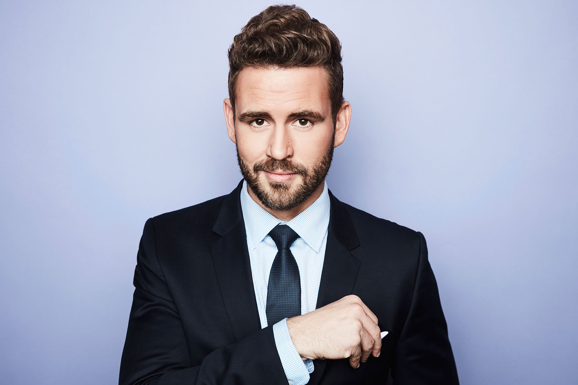 Nick Viall from ABC's 'The Bachelor' poses in the Getty Images Portrait Studio at the 2017 Winter Television Critics Association press tour at the Langham Hotel on January 10, 2017 in Pasadena, California. (Photo by Maarten de Boer/Getty Images Portrait)
