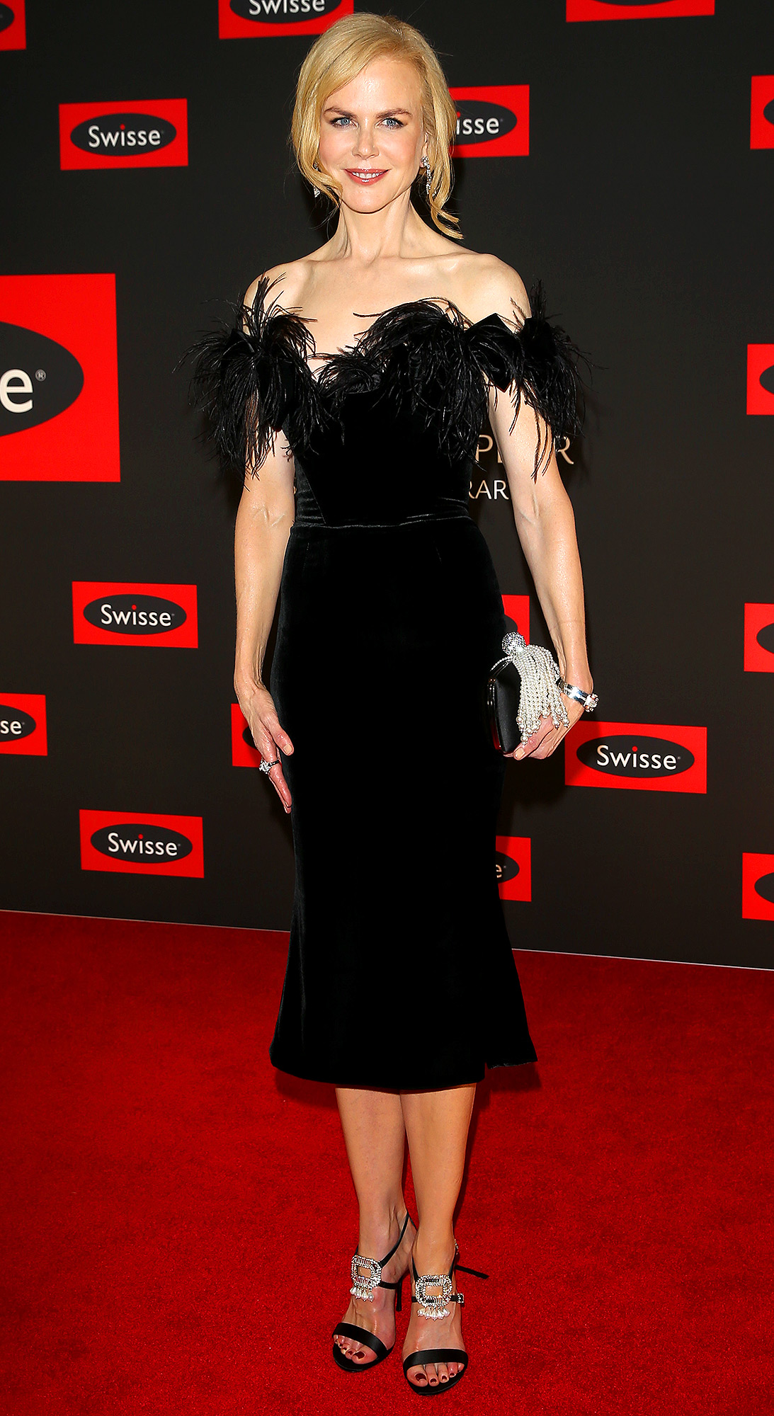Nicole Kidman arrives at an event for Swisse and Ferrari in Melbourne