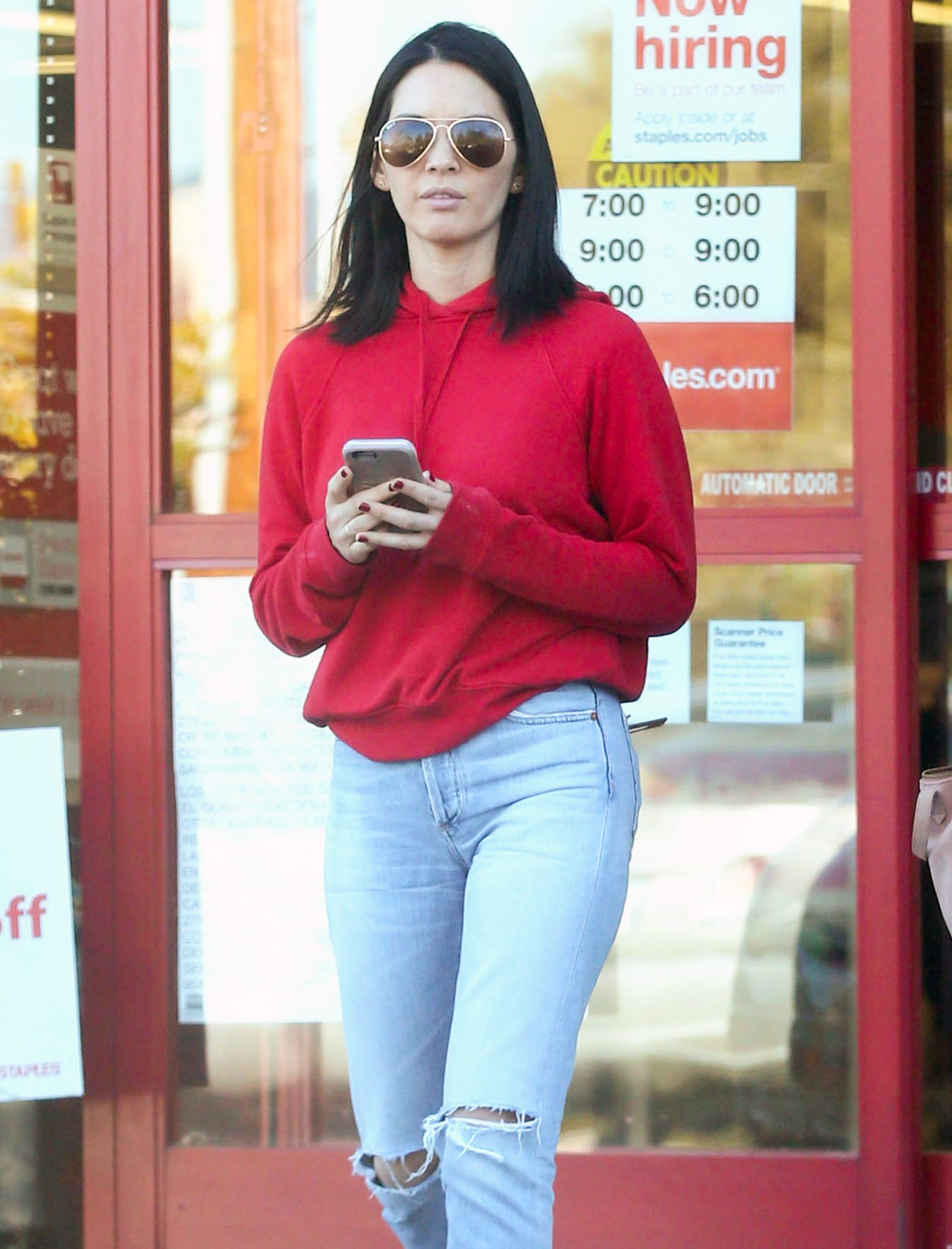 Exclusive... Olivia Munn Shopping At Staples In Los Angeles
