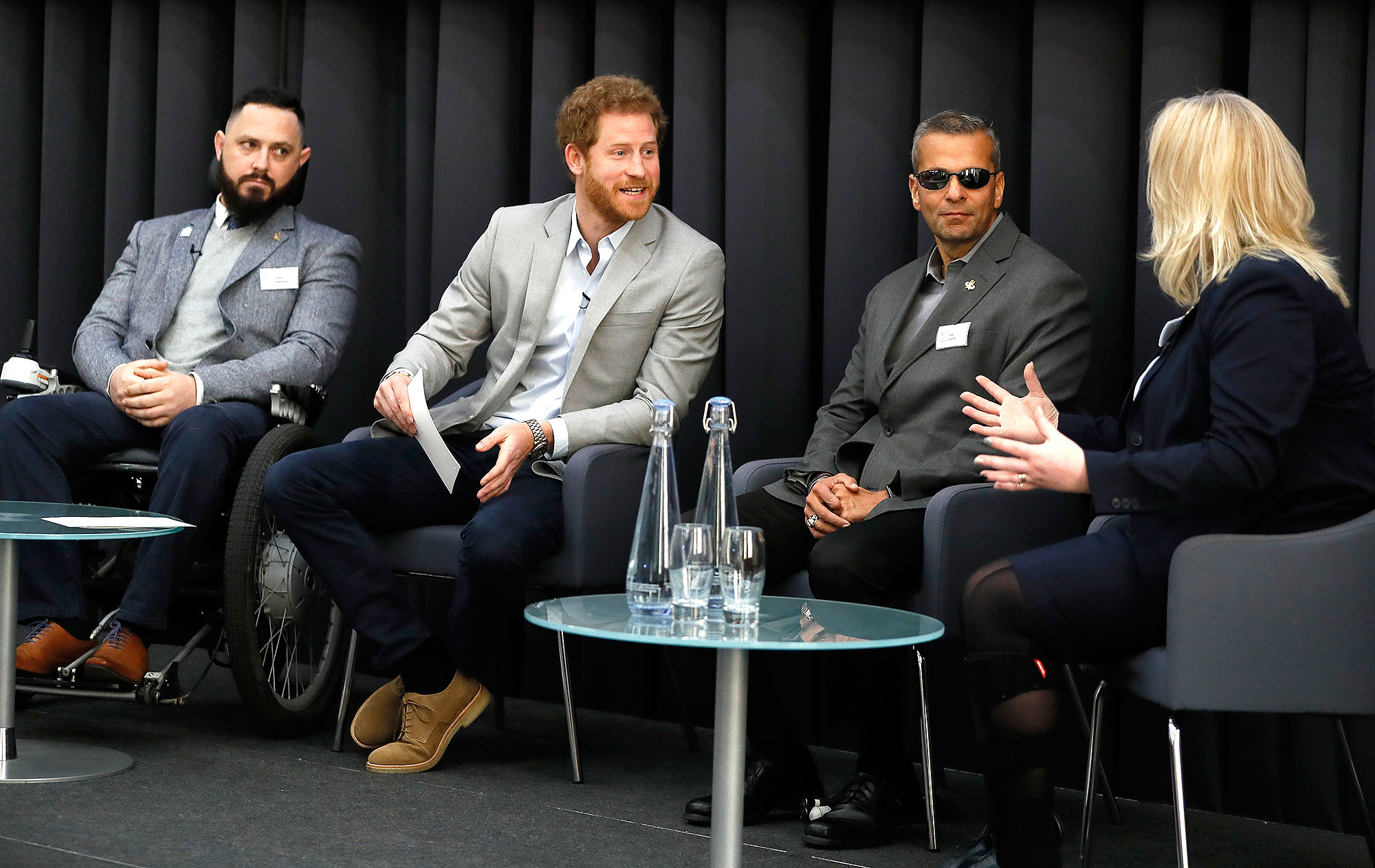 Prince Harry Attends Veterans' Mental Health Conference With Heads Together
