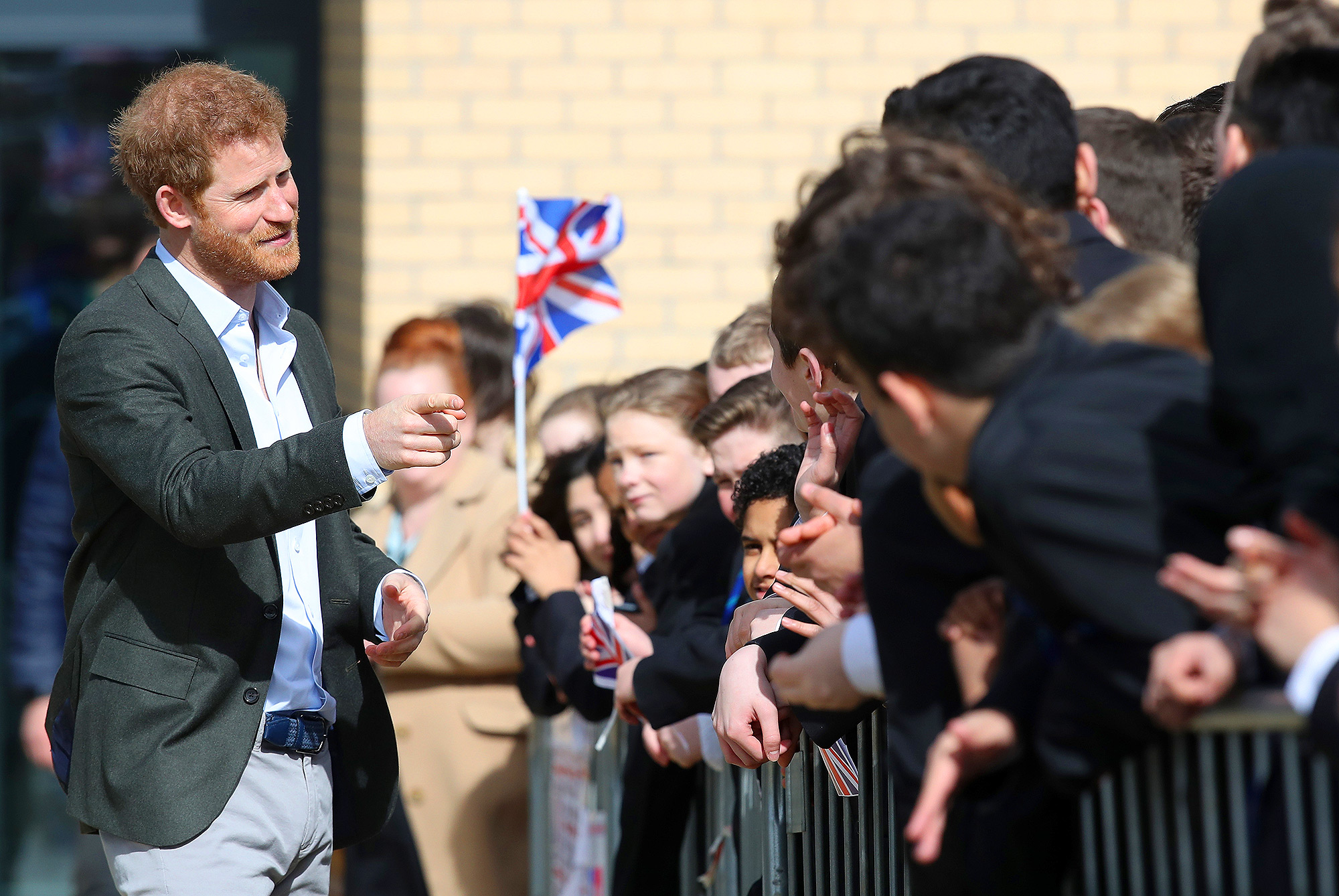 Prince Harry Visits Leicester