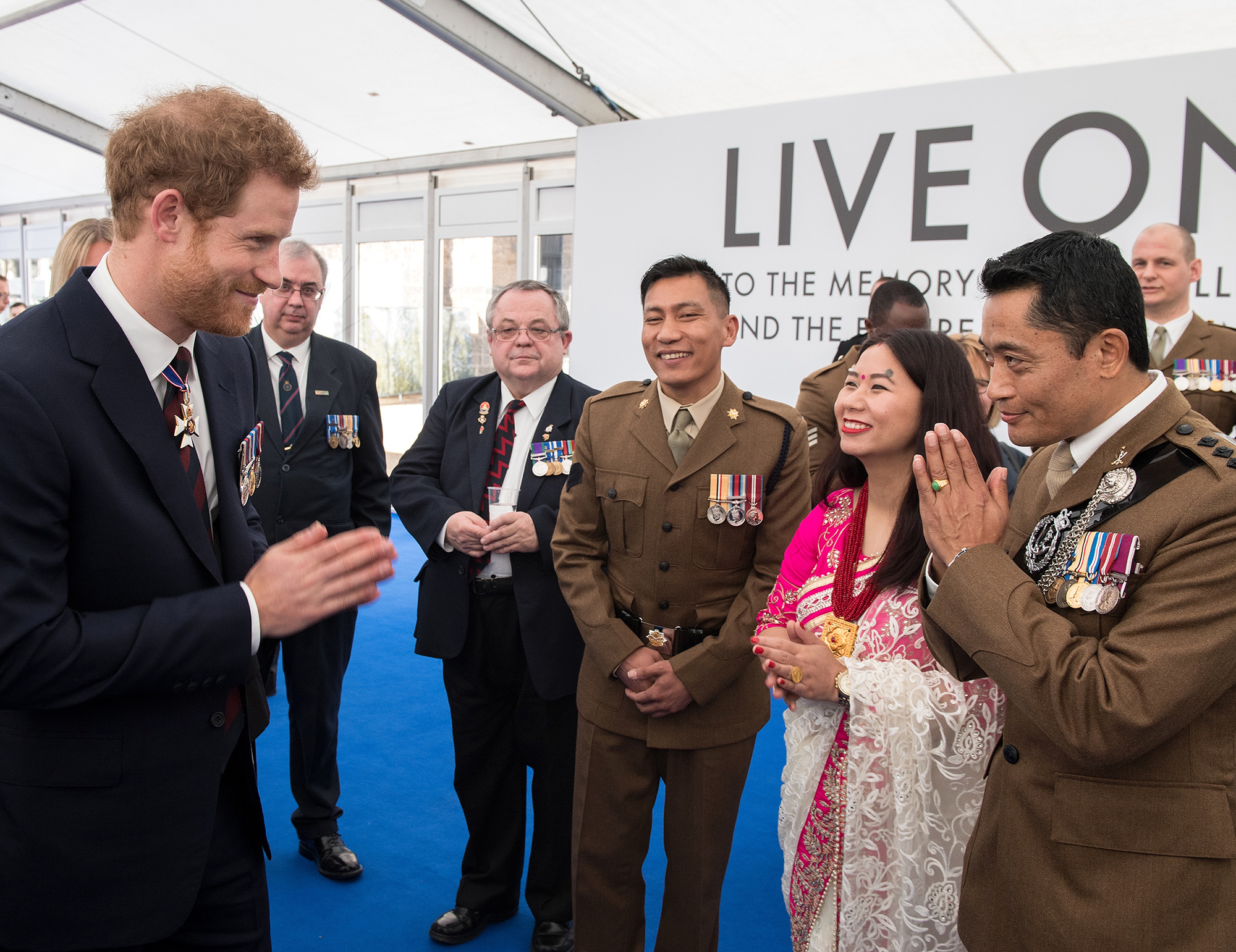 The Royal Family attend an Iraq and Afghanistan Memorial reception