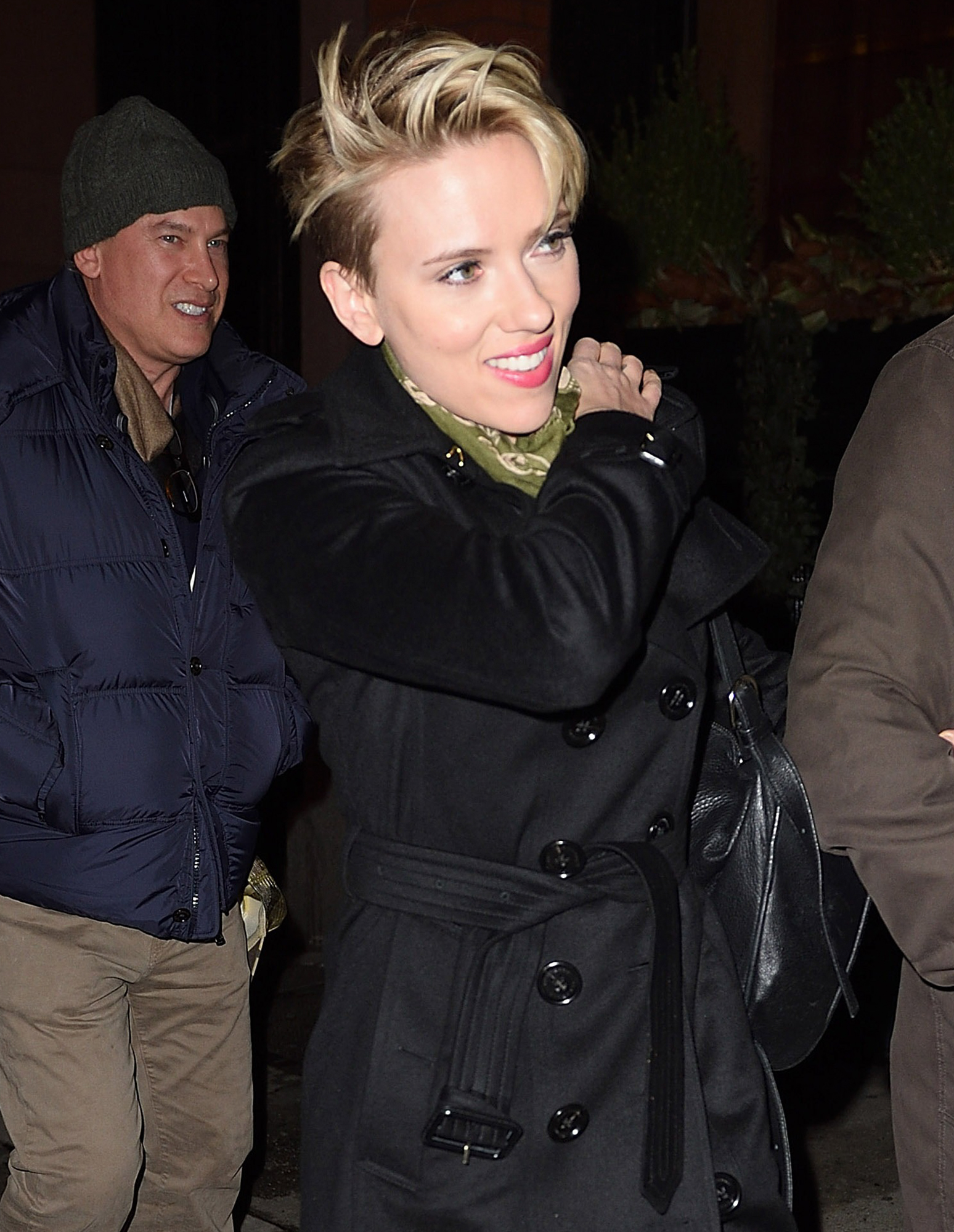 Scarlett Johansson arrives at the SNL party in NYC.