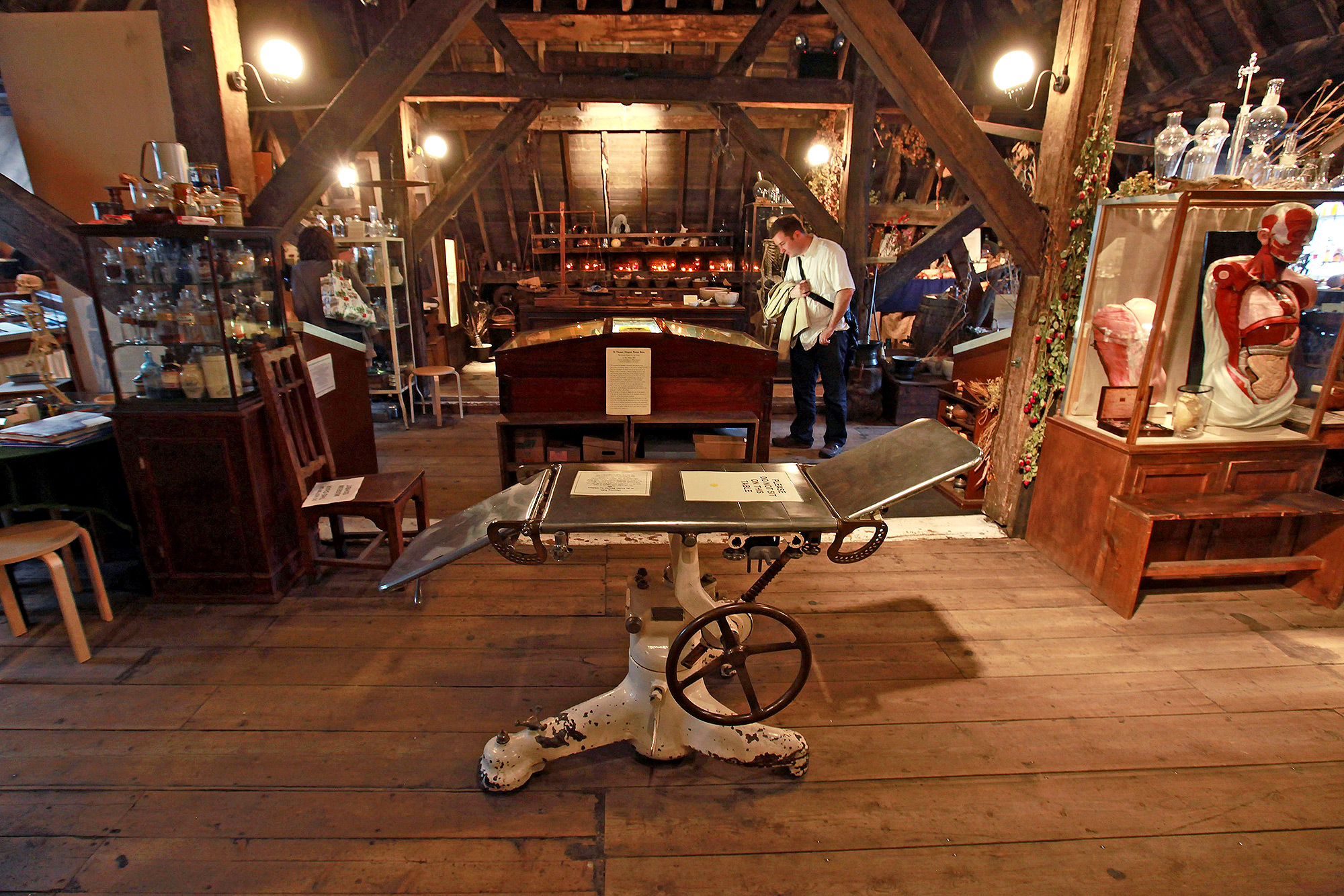 Curators At The Old Operating Theatre Conduct Surgery By Gaslight As Part Of The Museums At Night Season