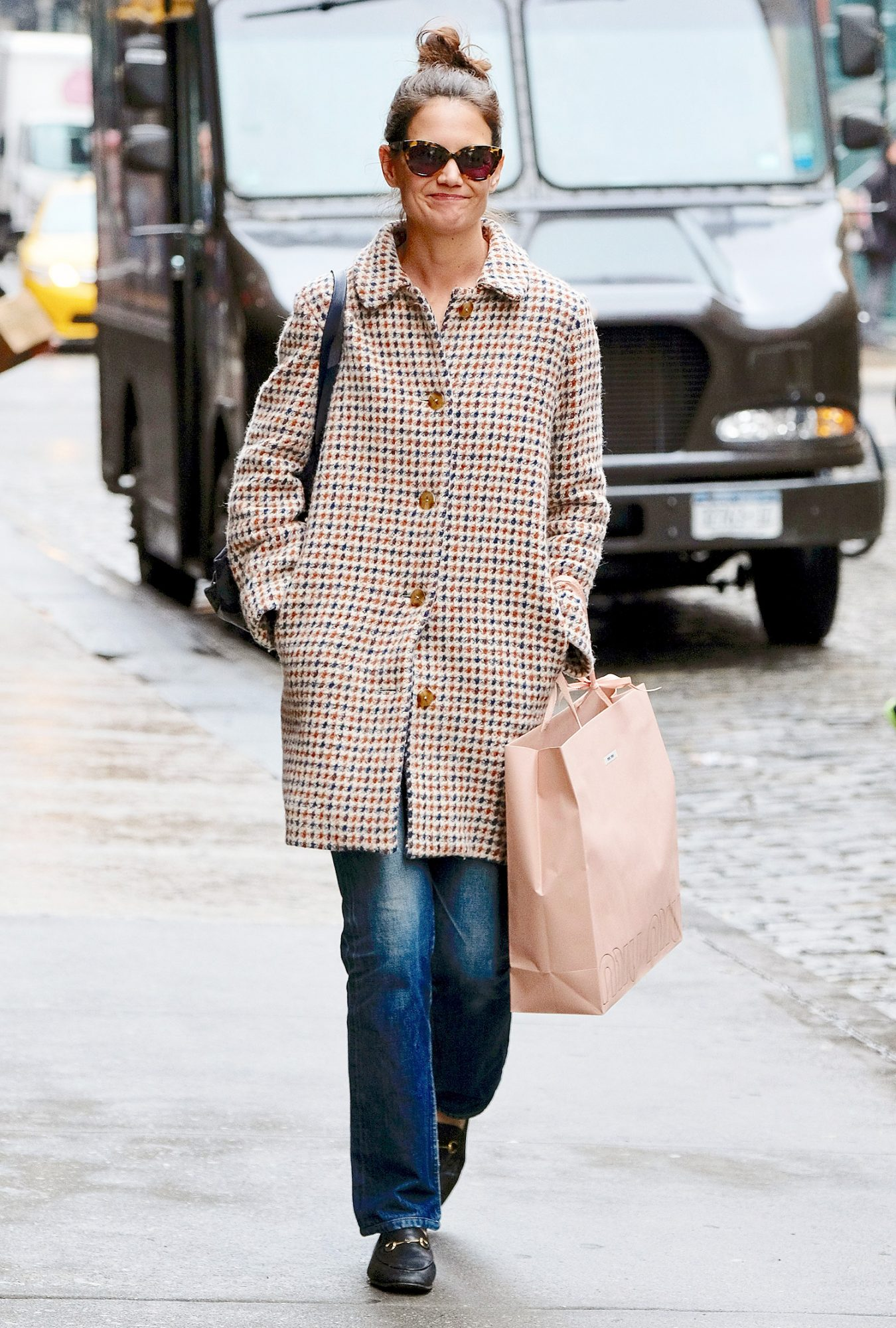 Katie Holmes Goes Shopping in Soho