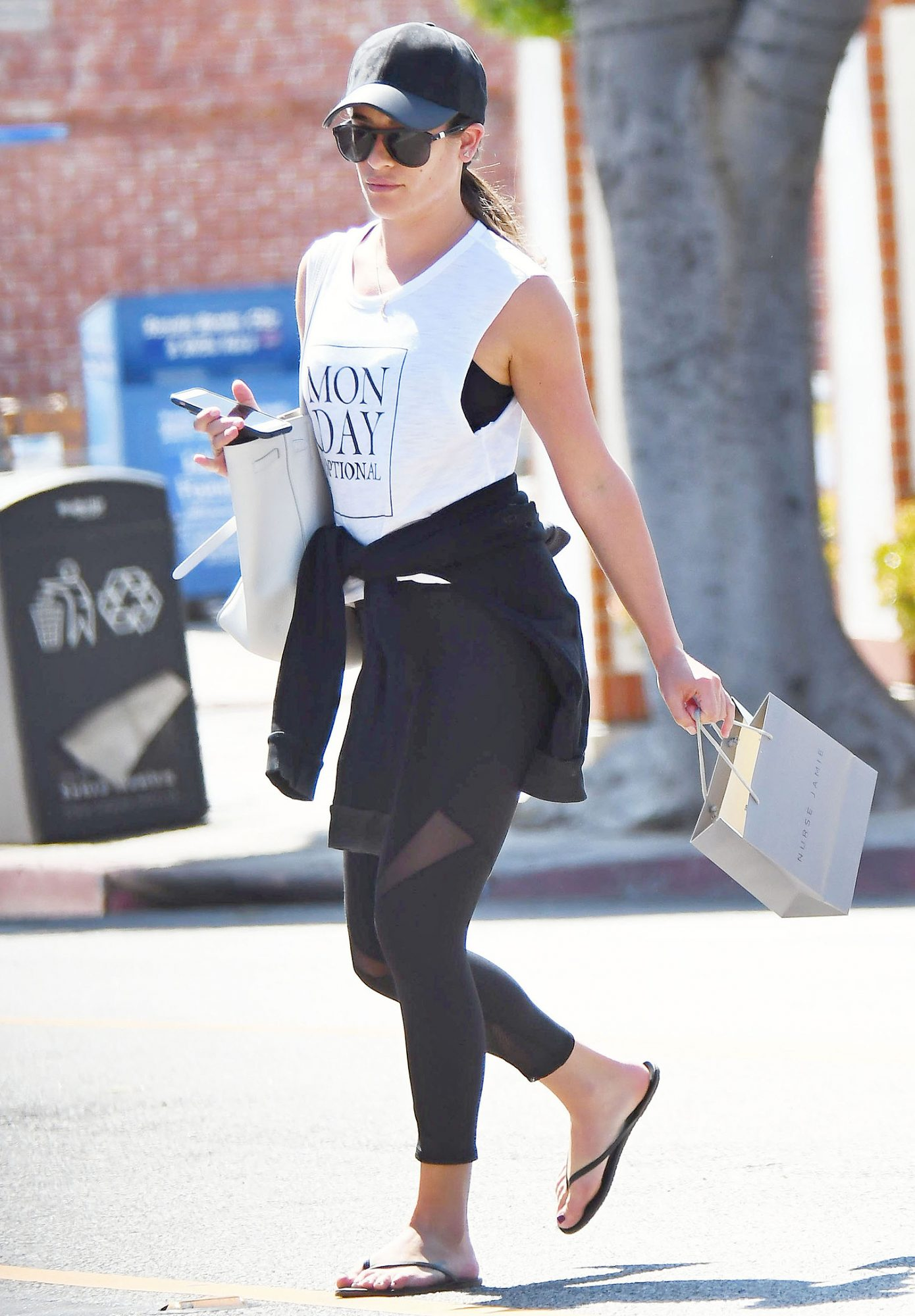 Lea Michele Out Shopping In Los Angeles