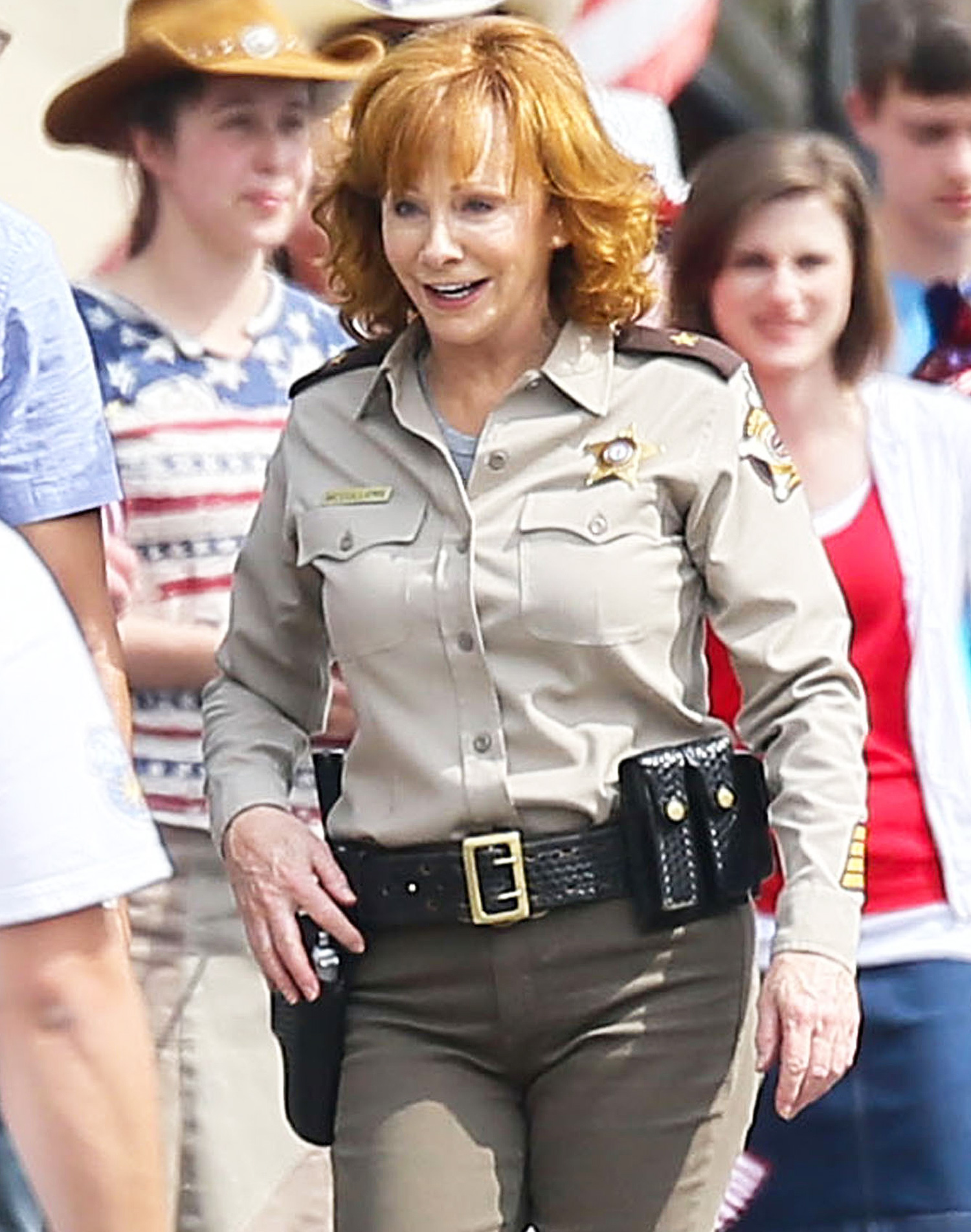 Exclusive... Reba McEntire Filming Her Upcoming TV Show