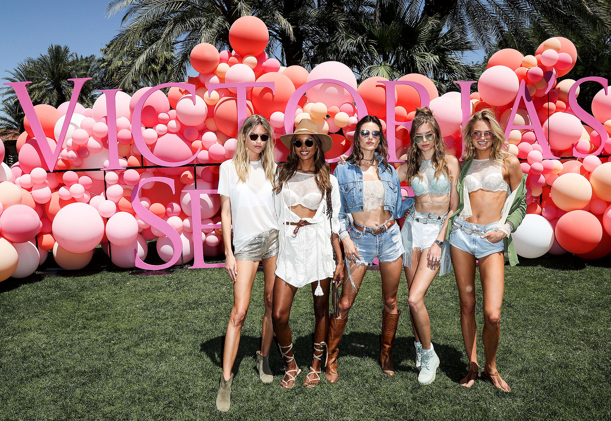 Victoria's Secret Angels Celebrate the Sexy Little Things Launch at the Angel Oasis