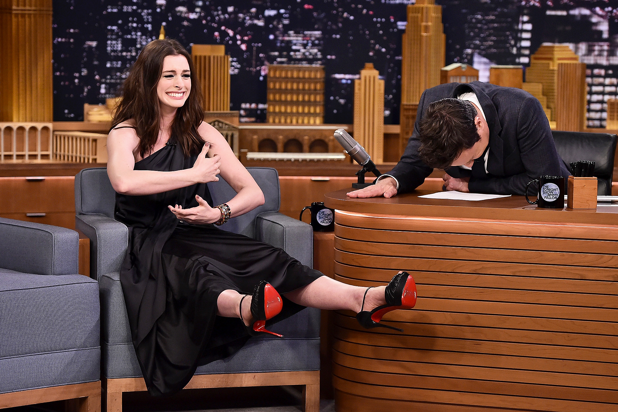 """Anne Hathaway Visits """"The Tonight Show Starring Jimmy Fallon"""""""