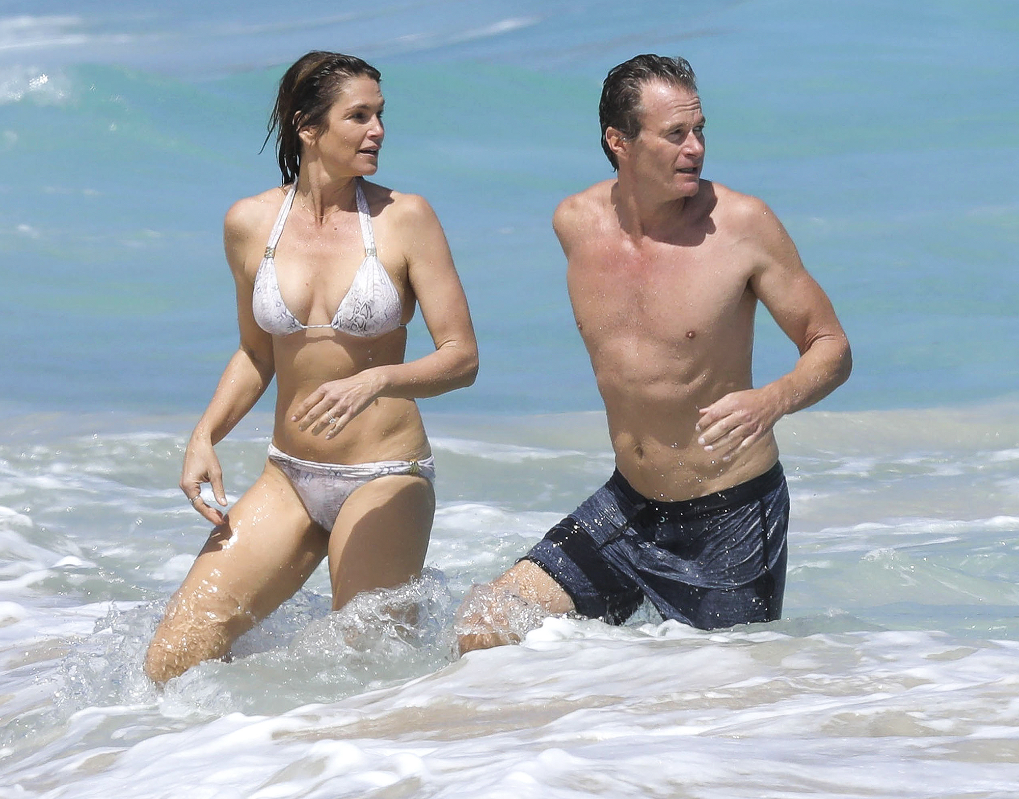 Cindy Crawford & Rande Gerber Vacation In St. Barts