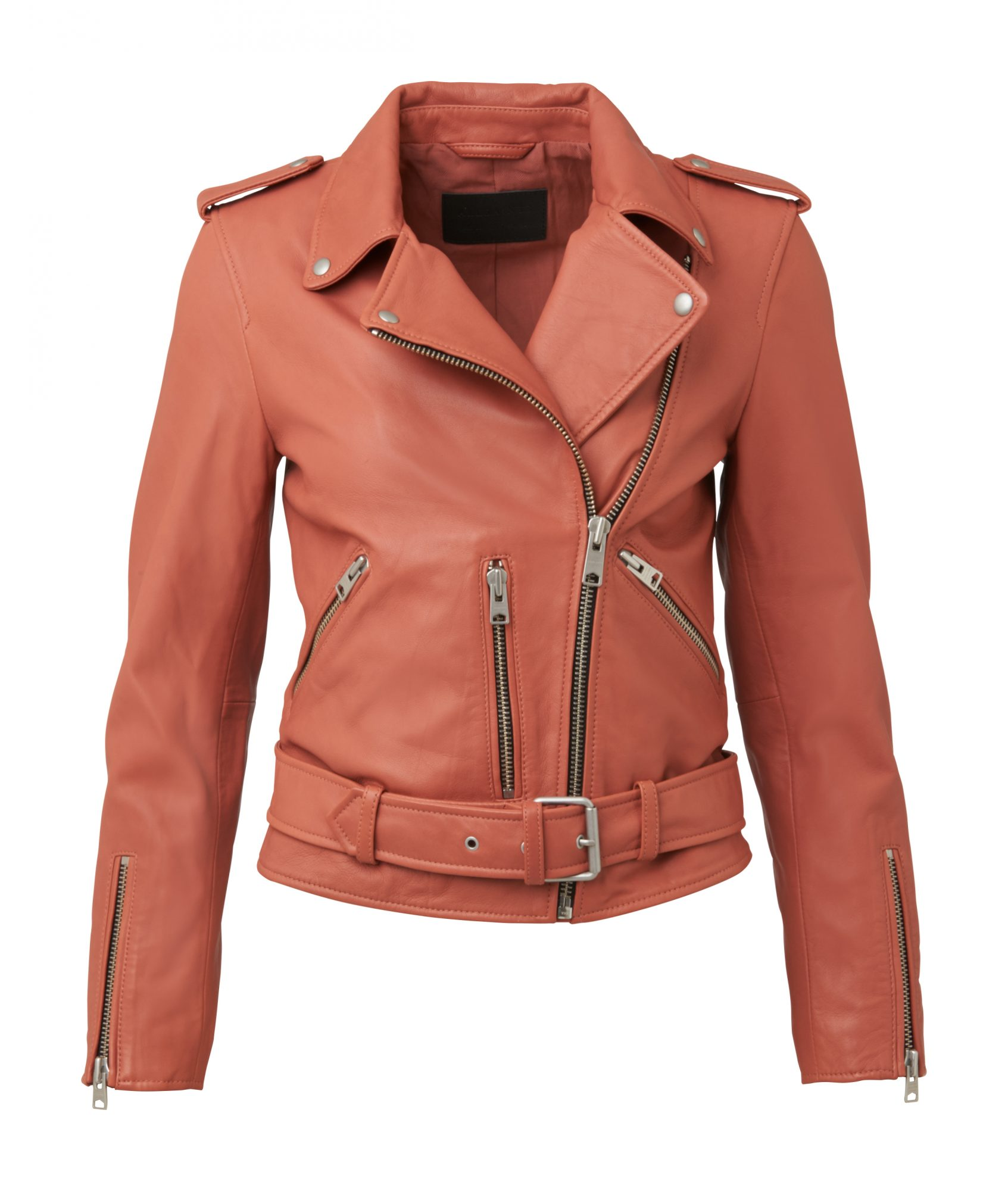 Colorful Leather Bomber