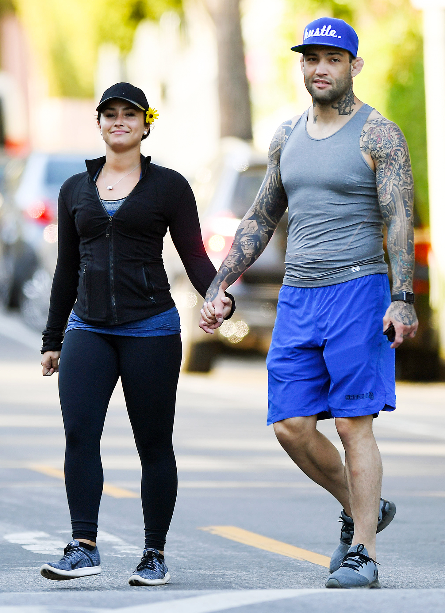 EXCLUSIVE: Demi Lovato holds hands with boyfriend Guilherme while on romantic hike together