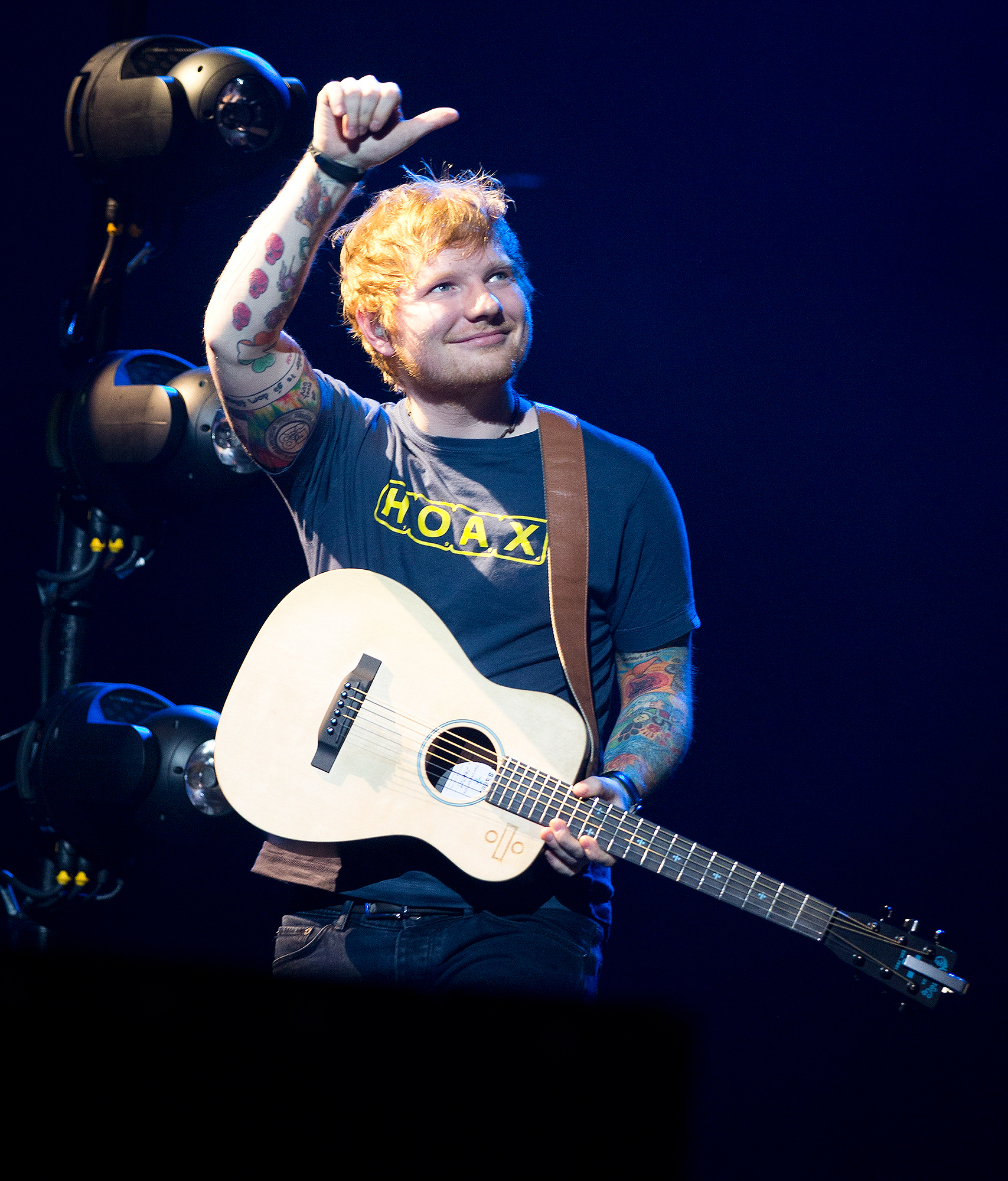Ed Sheeran Performs for Teenage Cancer Trust