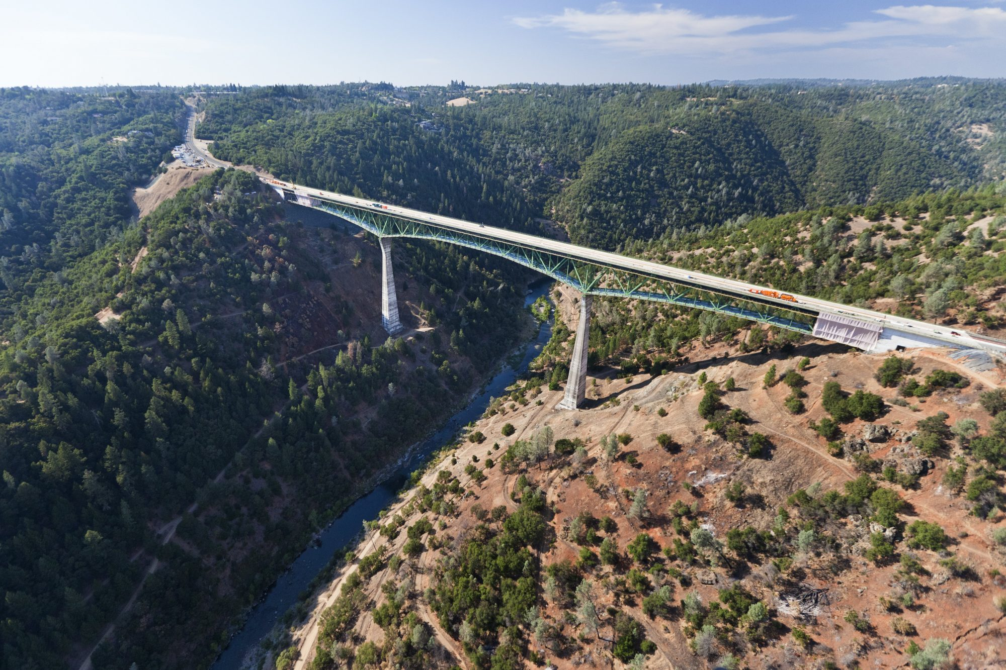 USA: Foresthill Bridge over the American River