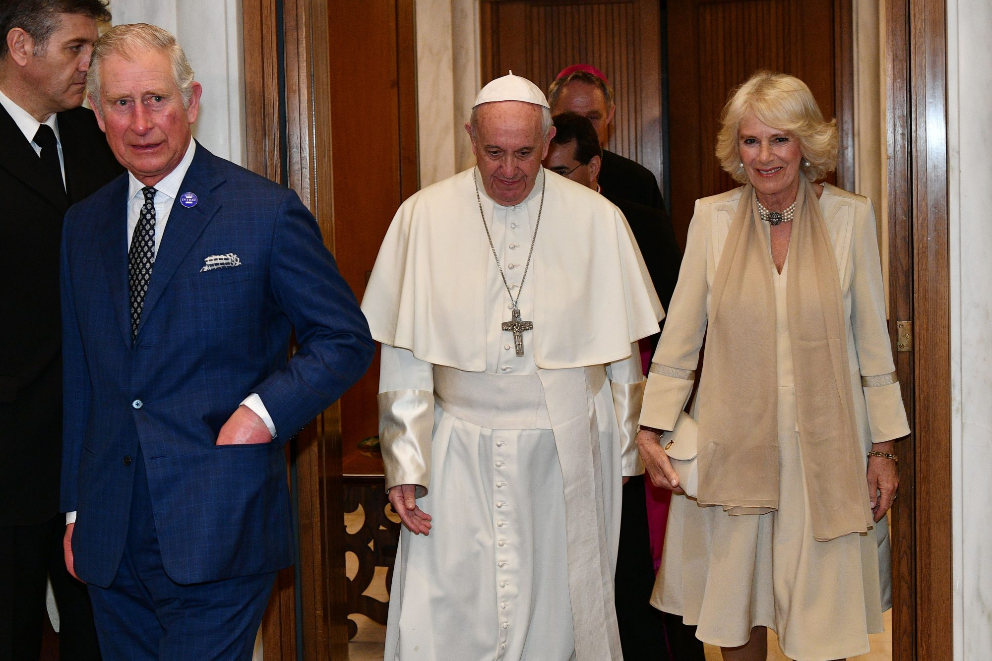 VATICAN-POPE-AUDIENCE-BRITAIN-ROYALS