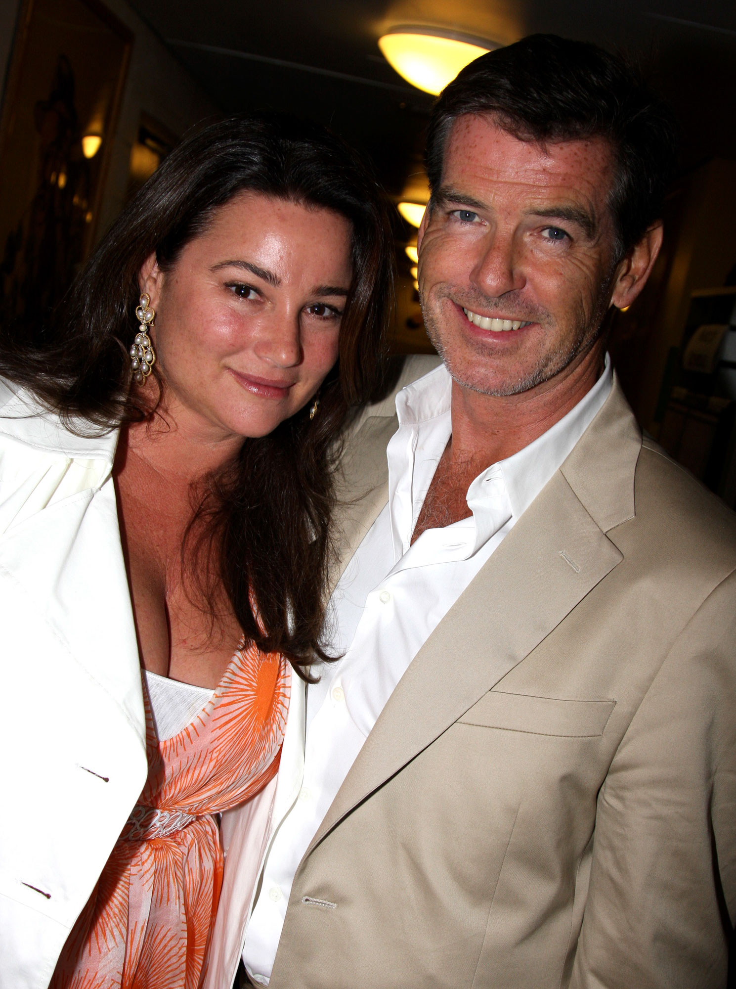 """Pierce Brosnan Visits """"South Pacific"""" on Broadway - July 11, 2008"""