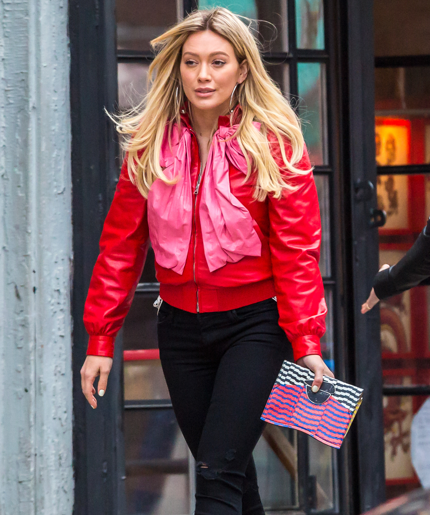EXCLUSIVE Hilary Duff Steps Out in NYC Looking Fantastic in Red