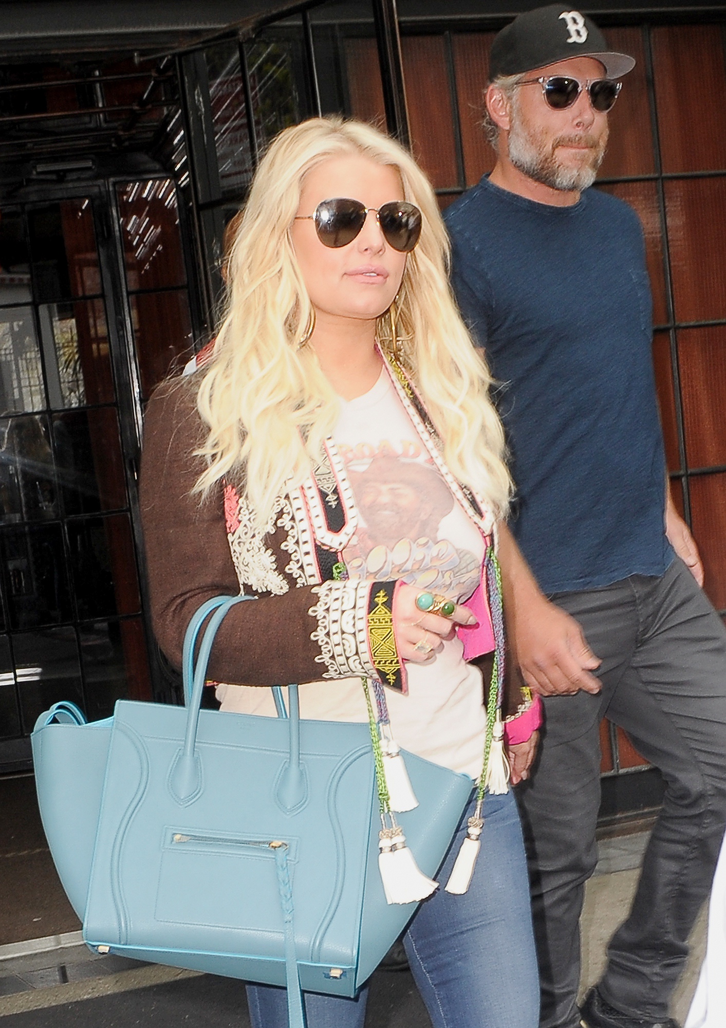 Jessica Simpson and husband Eric Johnson spotted leaving The Bowery Hotel