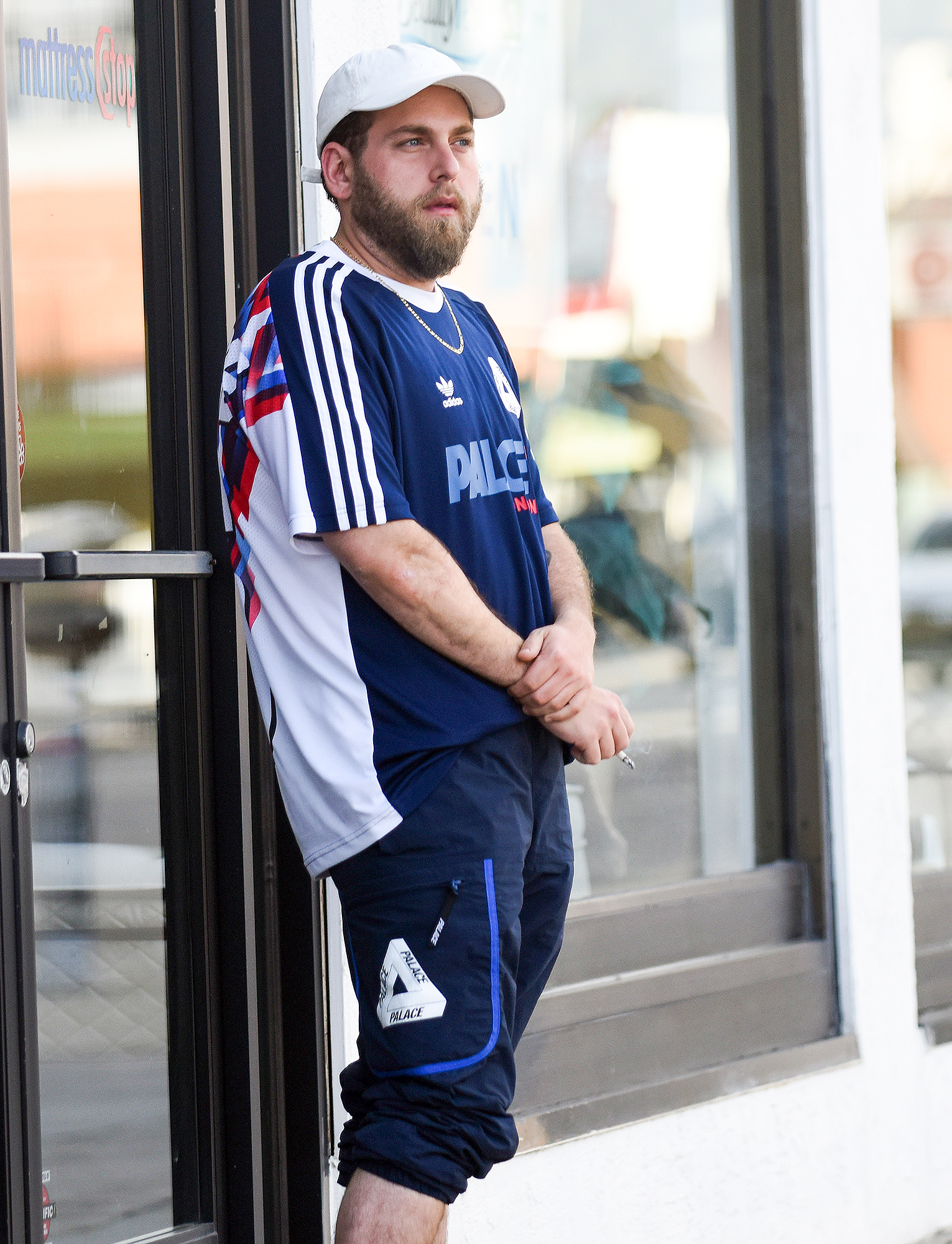 EXCLUSIVE: Jonah Hill is Spotted Having a Smoke After Big Weight Loss