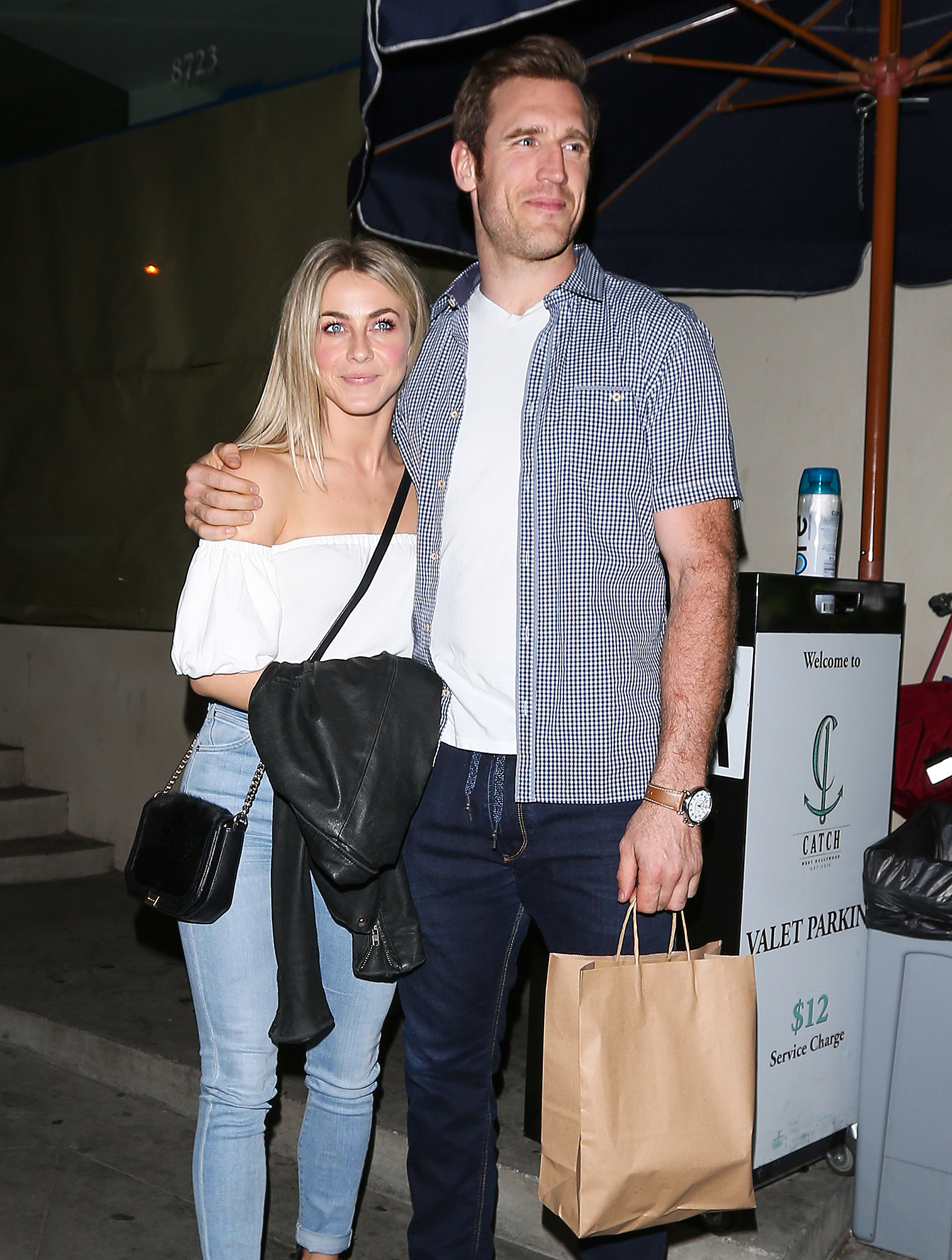 Julianne Hough and Brooks Laich dine at Catch restaurant together