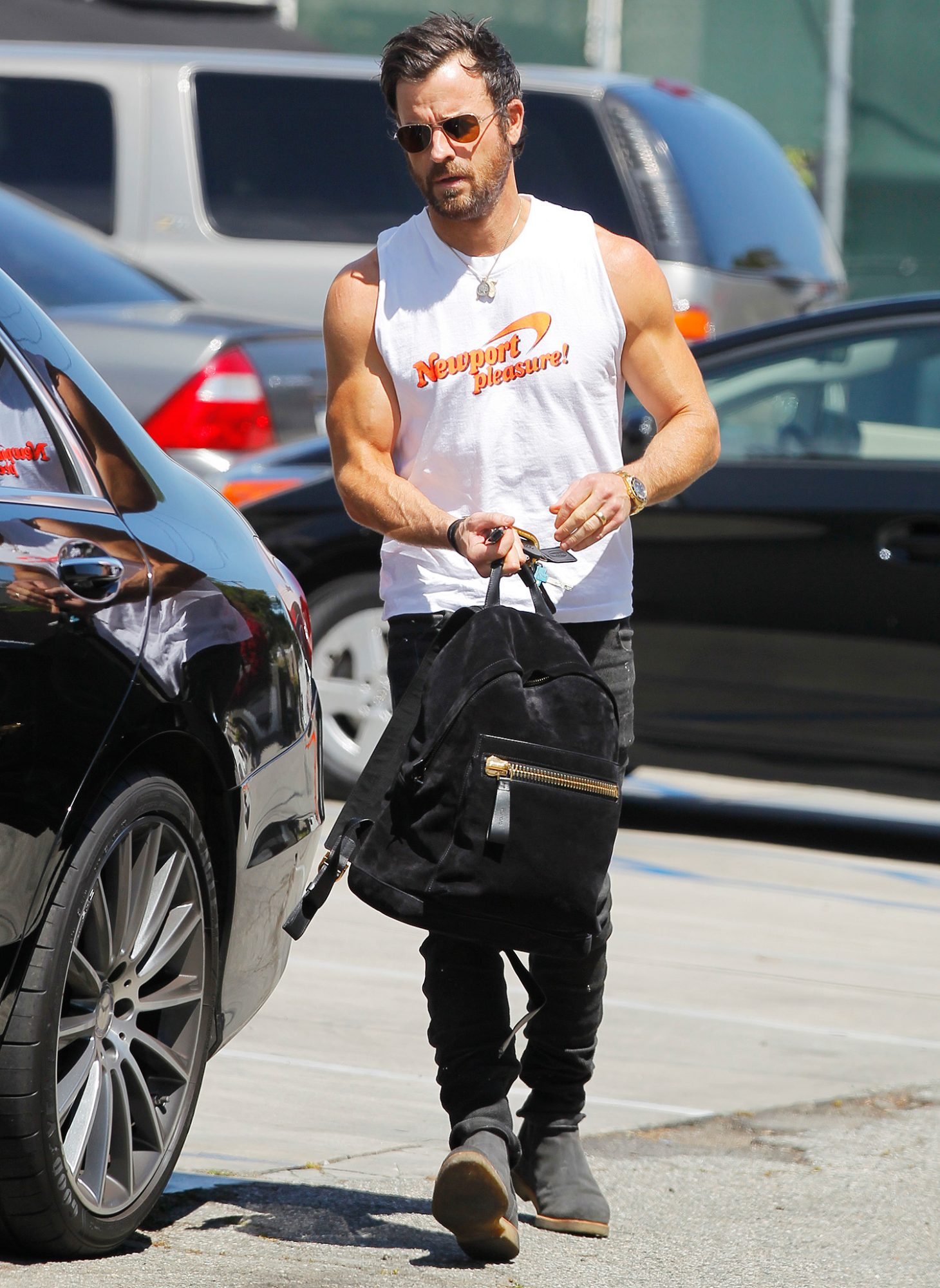 Justin Theroux seen after a workout in West Hollywood