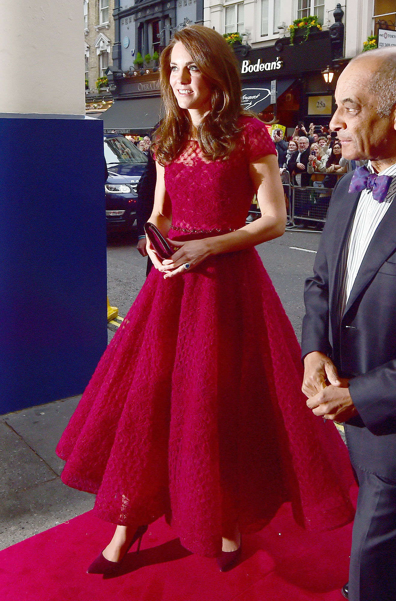 Duchess of Cambridge attends the opening night of 42nd Street
