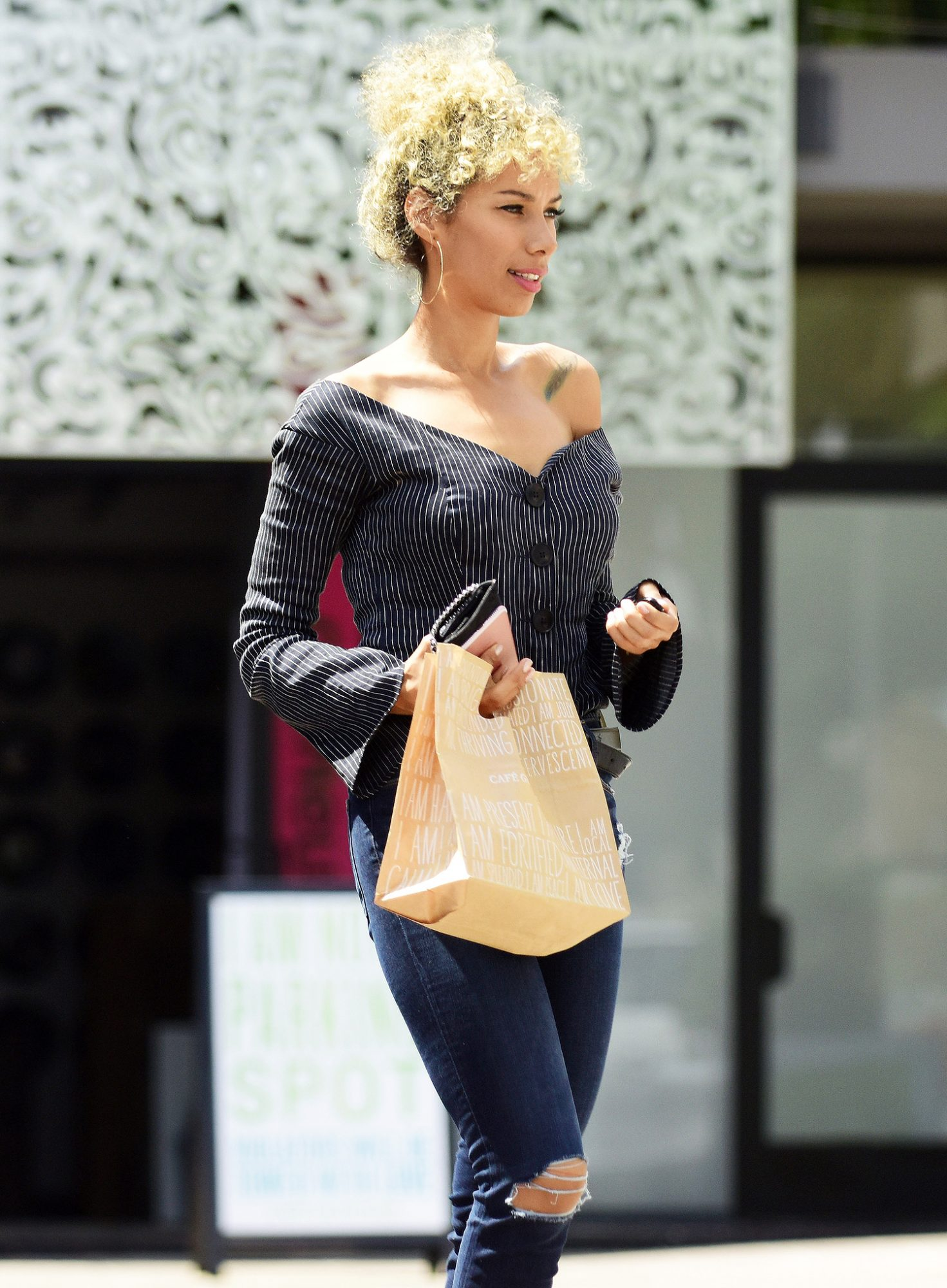EXCLUSIVE: Leona Lewis steps out looking flawless after a recording session in LA
