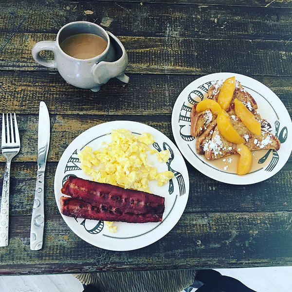 19. BACON, EGGS, FRENCH TOAST & COFFEE