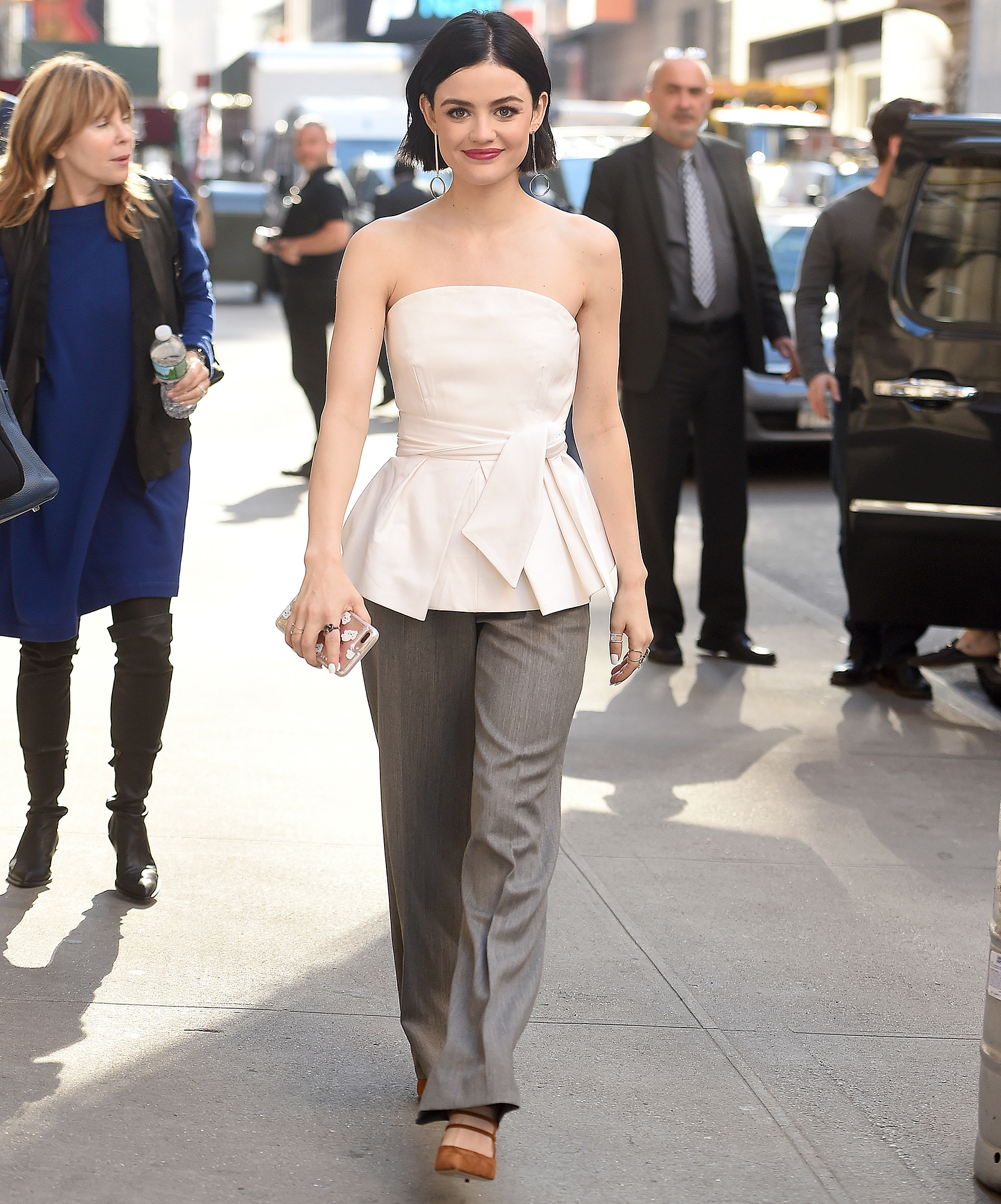 Lucy Hale spotted out and about in New York City