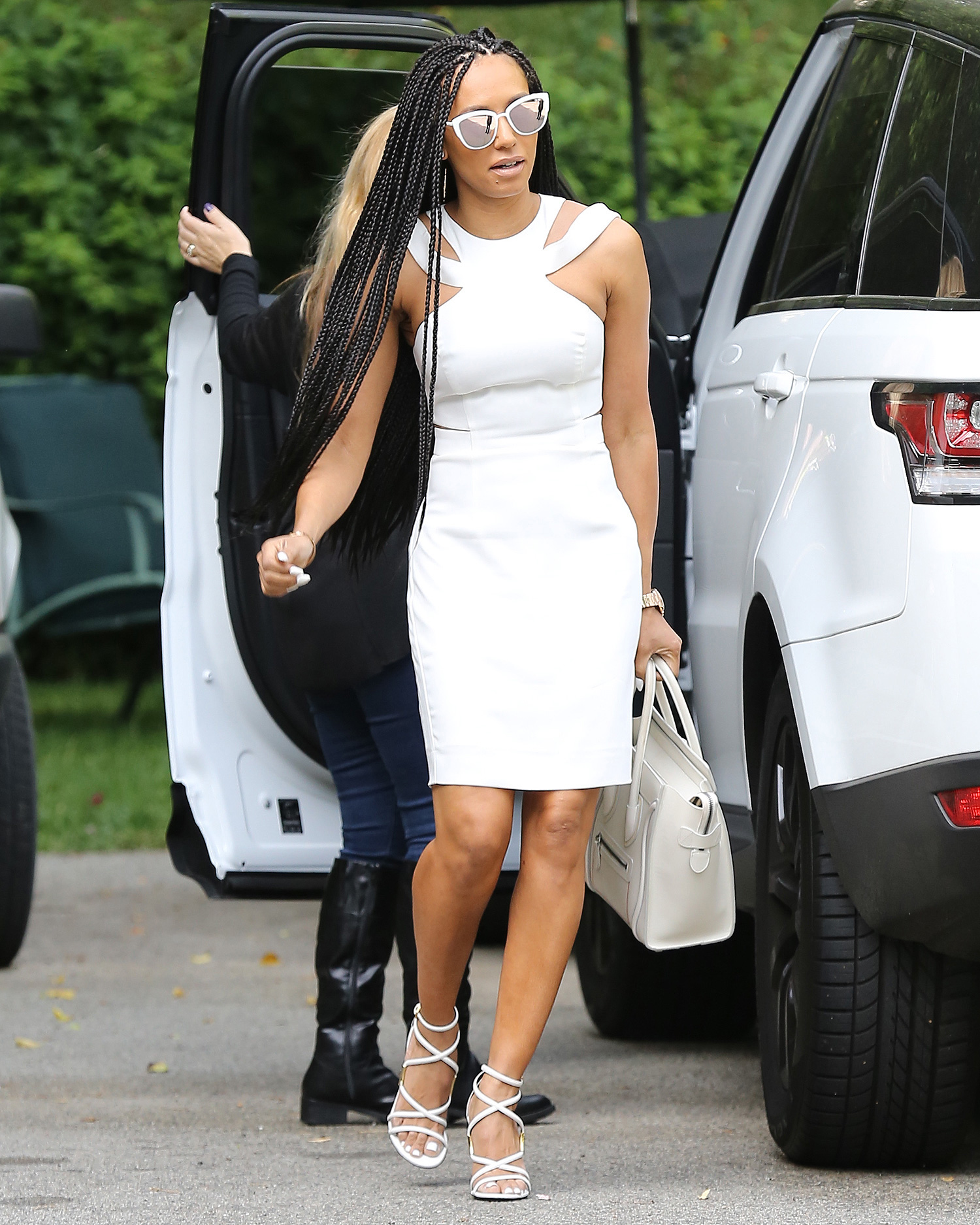 Mel B returns to Laywers Office for the third day in a row.