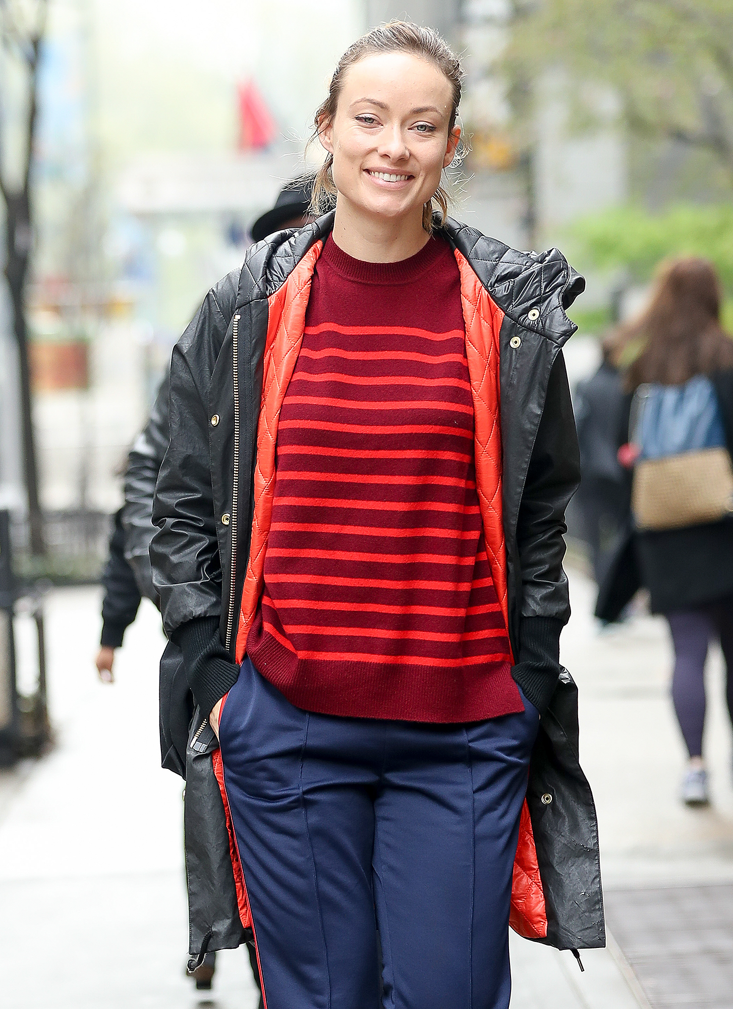 EXCLUSIVE: Olivia Wilde looks radiant while makeup free as she walks around in Midtown, New York City