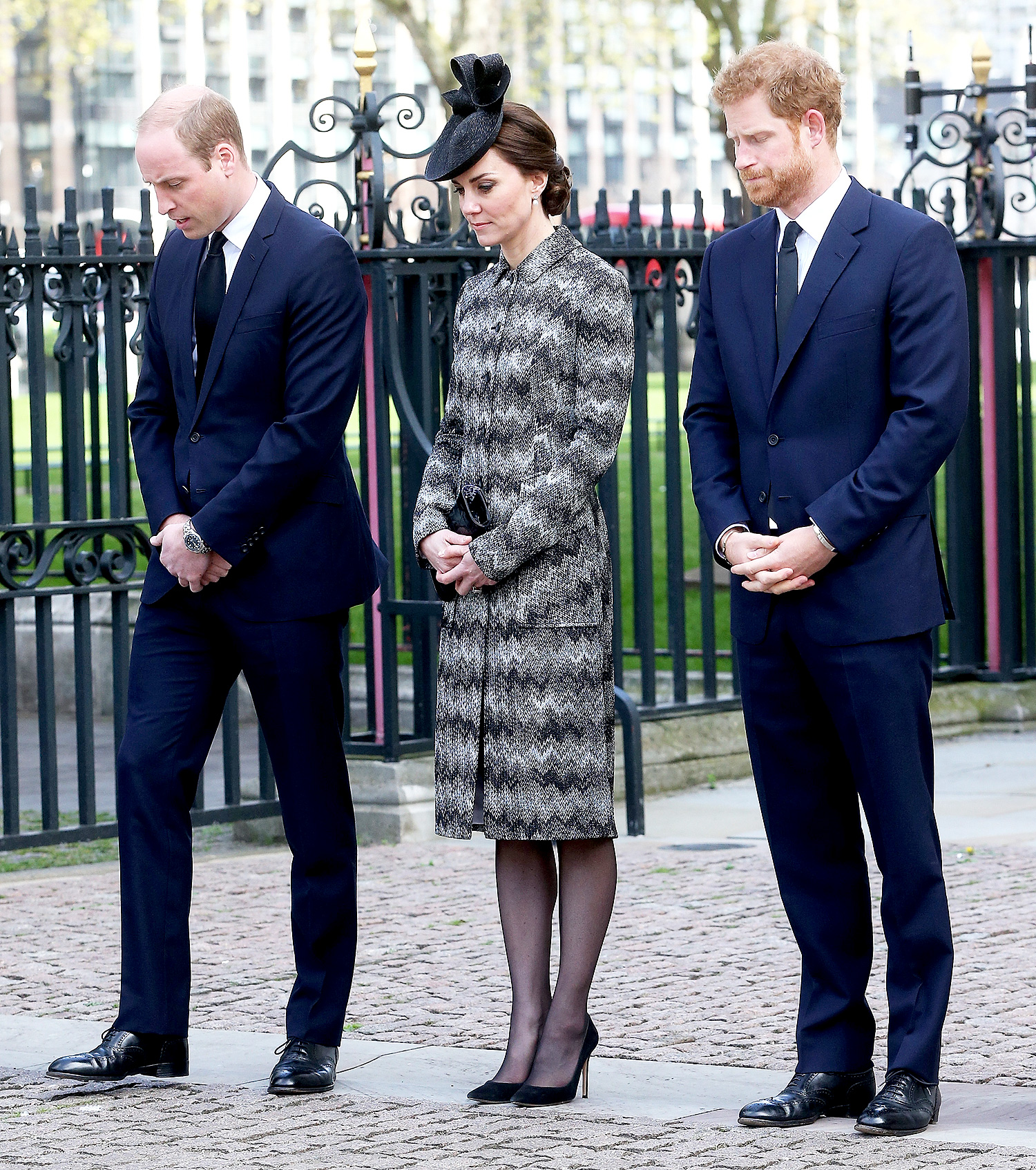 The Duke And Duchess Of Cambridge & Prince Harry Attend Service Of Hope