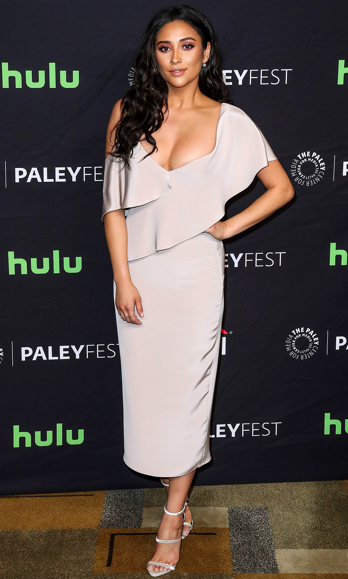 Shay Mitchell arrives at The Paley Center For Media's 34th Annual PaleyFest Los Angeles - 'Pretty Little Liars'