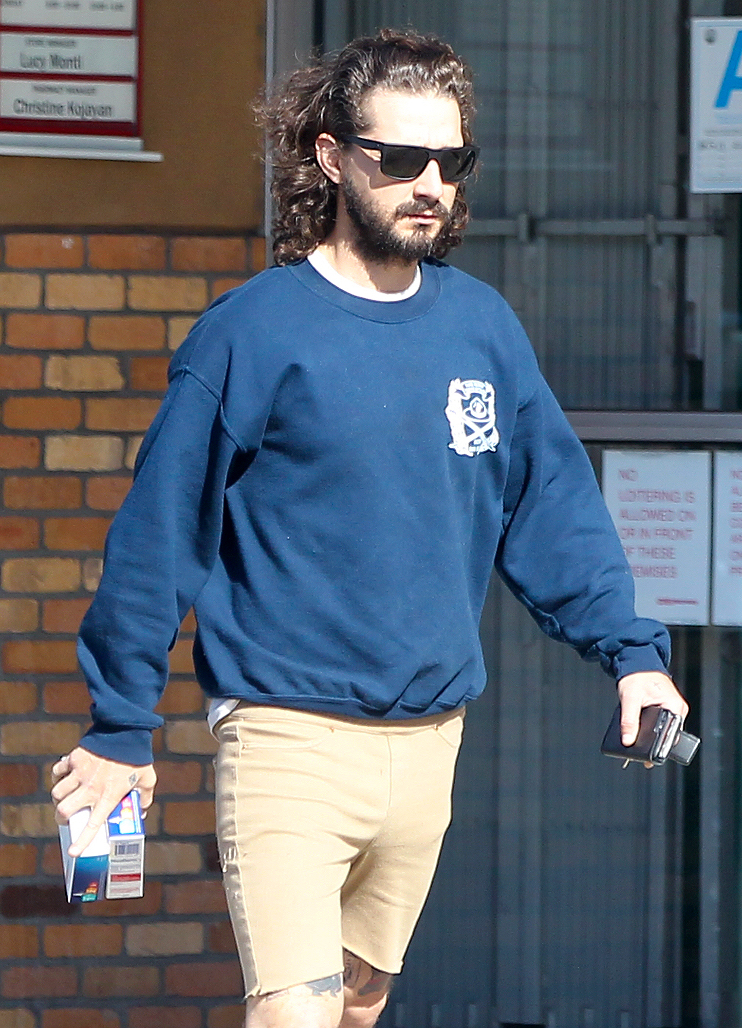 EXCLUSIVE: Shia quits LaPuff! Actor and artist Shia LaBeouf photographed purchasing two boxes of NicoDerm patches, the smoking deterrent that helps people to quit smoking, from a CVS store in Los Angeles