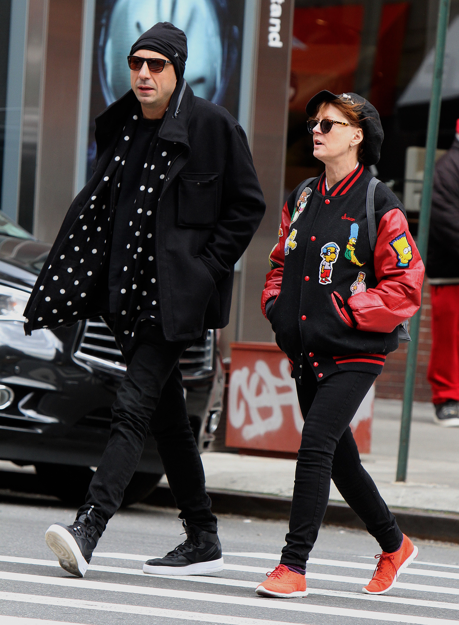 Susan Sarandon with a mystery man out and about in New York City.