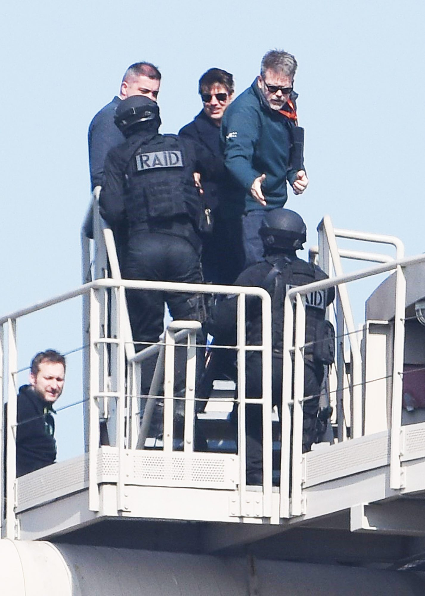 Tom Cruise films for Mission: Impossible 6 at Bercy