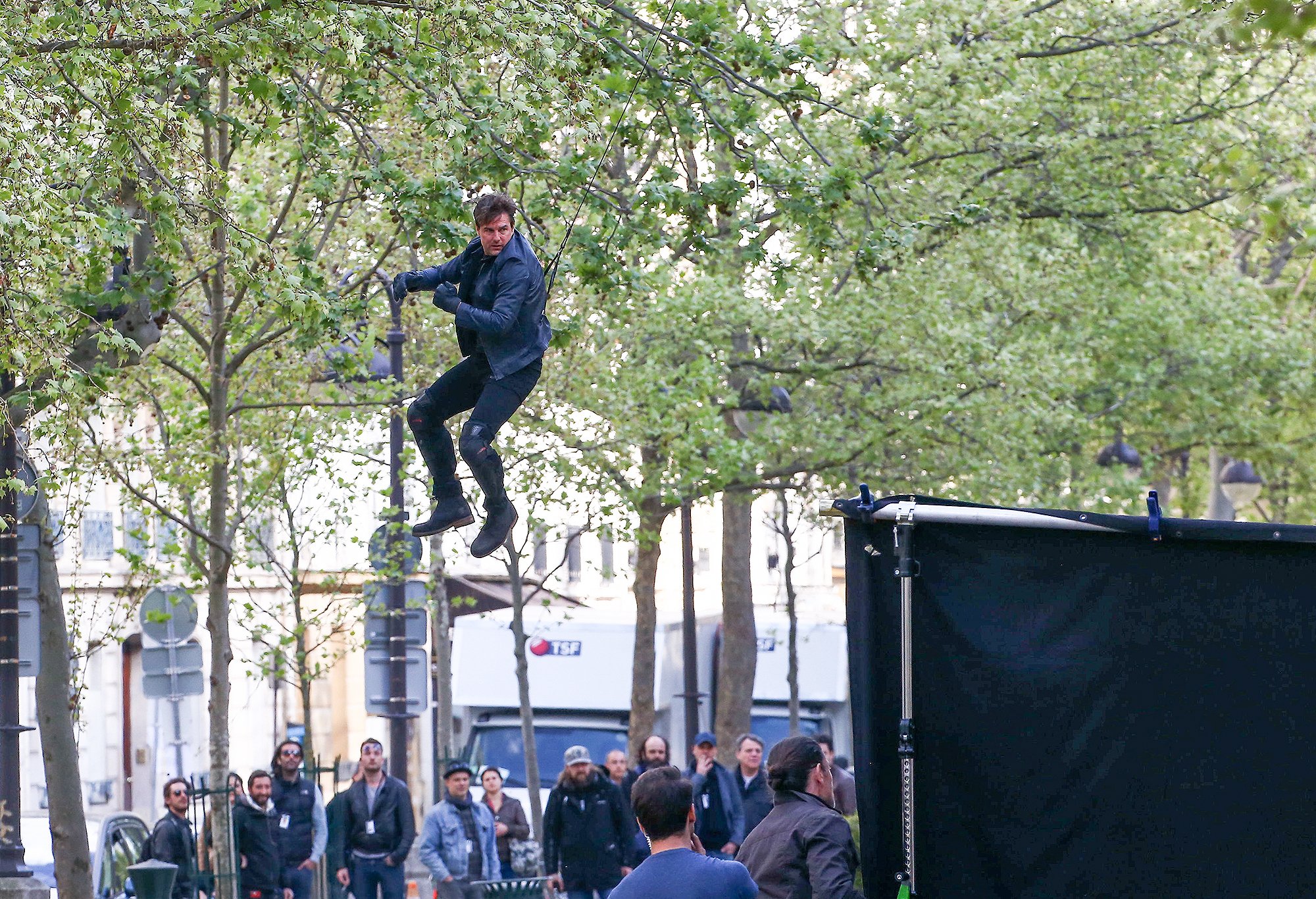 Tom Cruise filming Mission Impossible 6