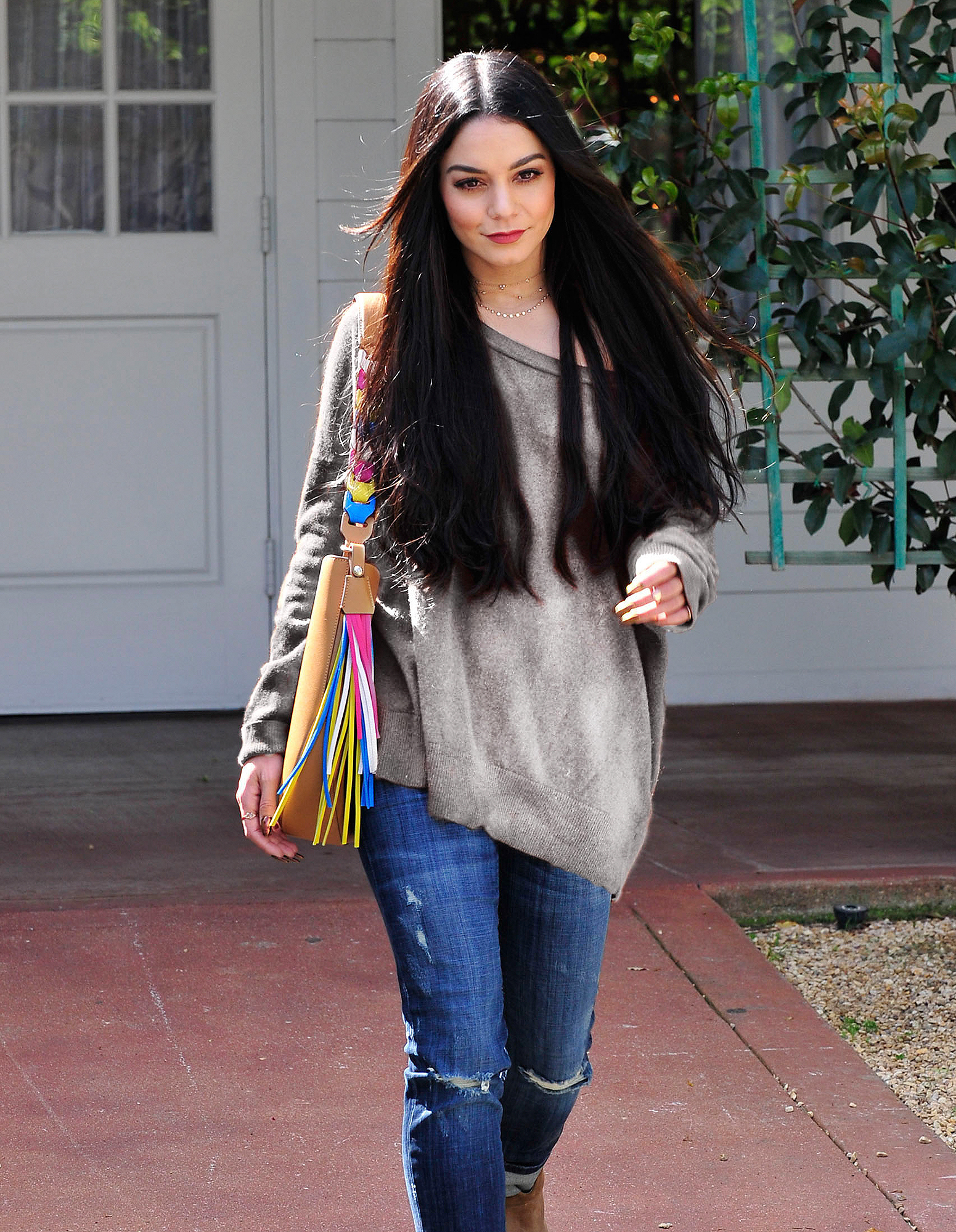Vanessa Hudgens Leaving A Meeting