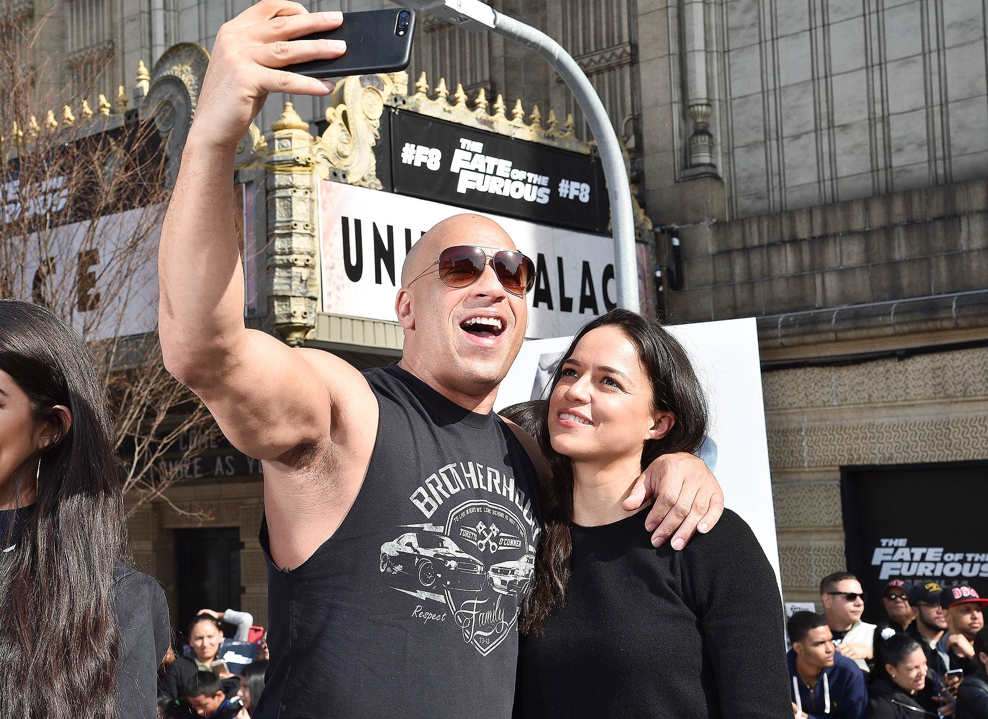 """Vin Diesel And Michelle Rodriguez Visit Washington Heights On Behalf Of """"The Fate Of The Furious"""""""