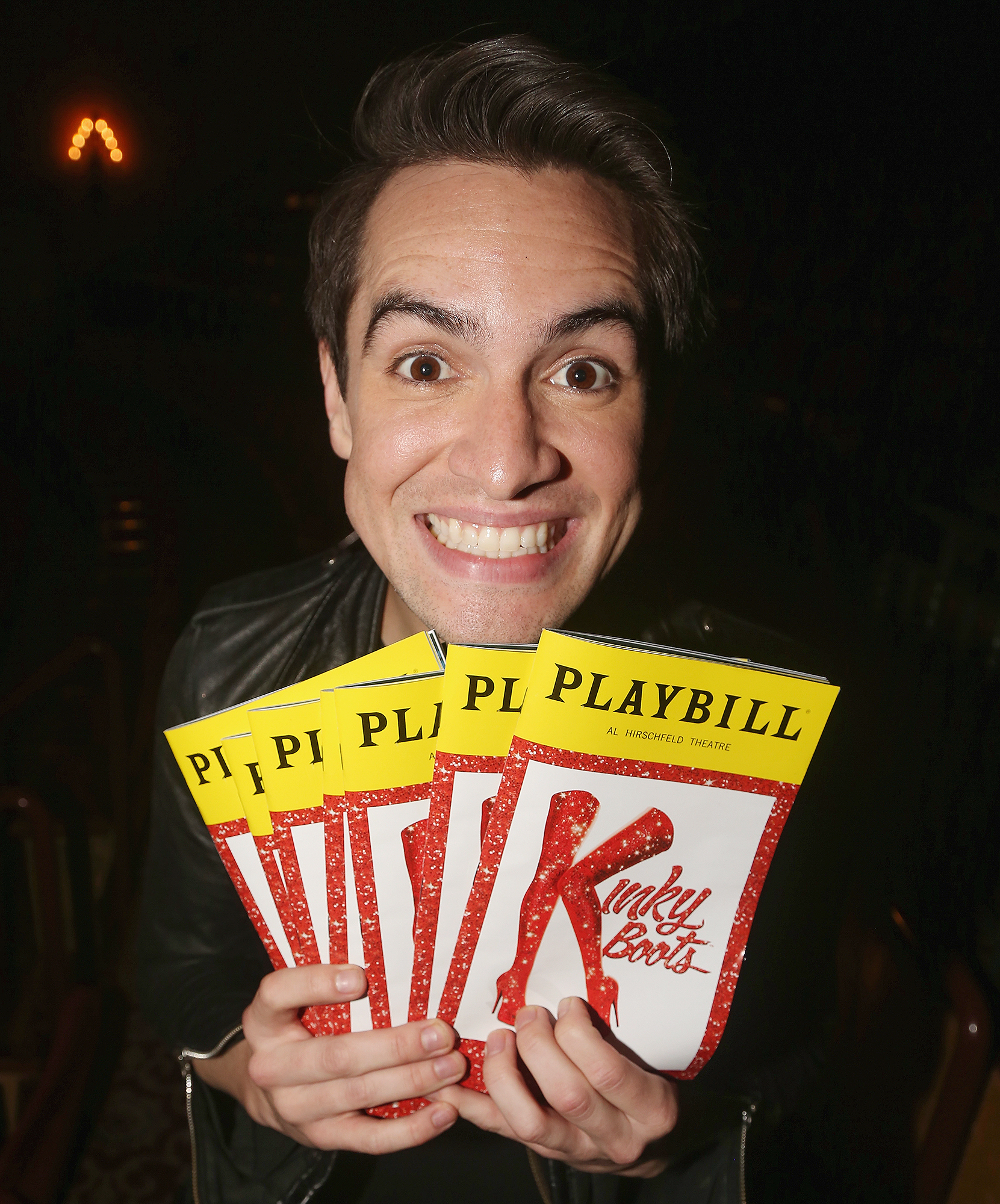"""Brendon Urie Rehearsals For His Broadway Debut In """"Kinky Boots"""""""