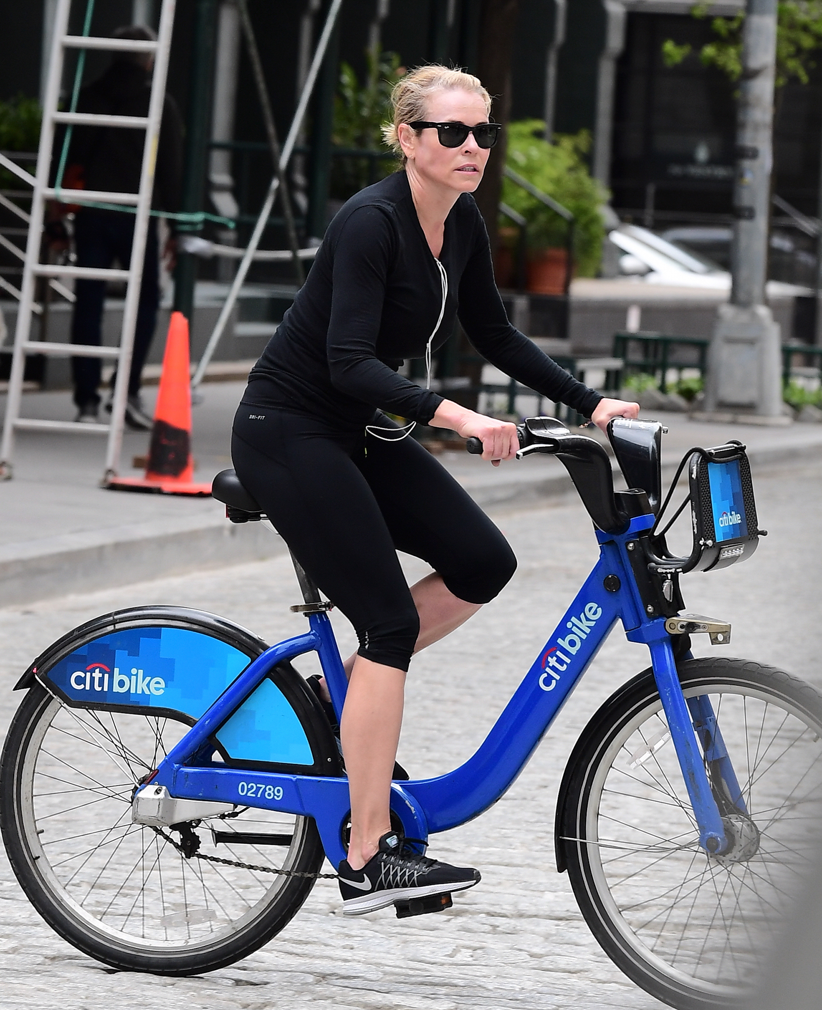 EXCLUSIVE: Chelsea Handler Spends the day with her makeup artist  in NYC Riding Citi Bikes
