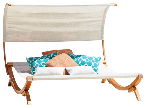 Rosalie Outdoor Lounge Daybed With Canopy