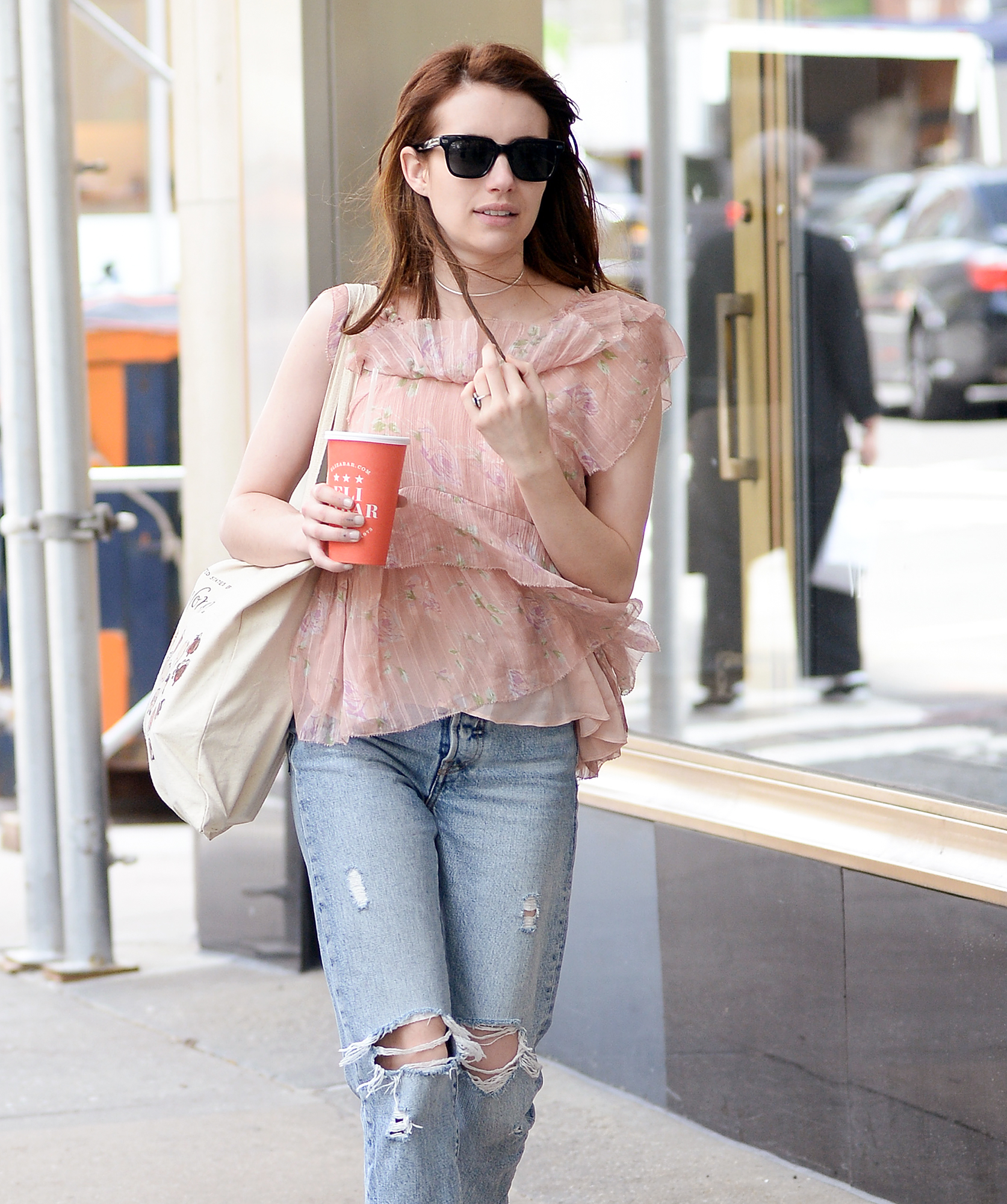 EXCLUSIVE: Emma Roberts Does Some Shopping today