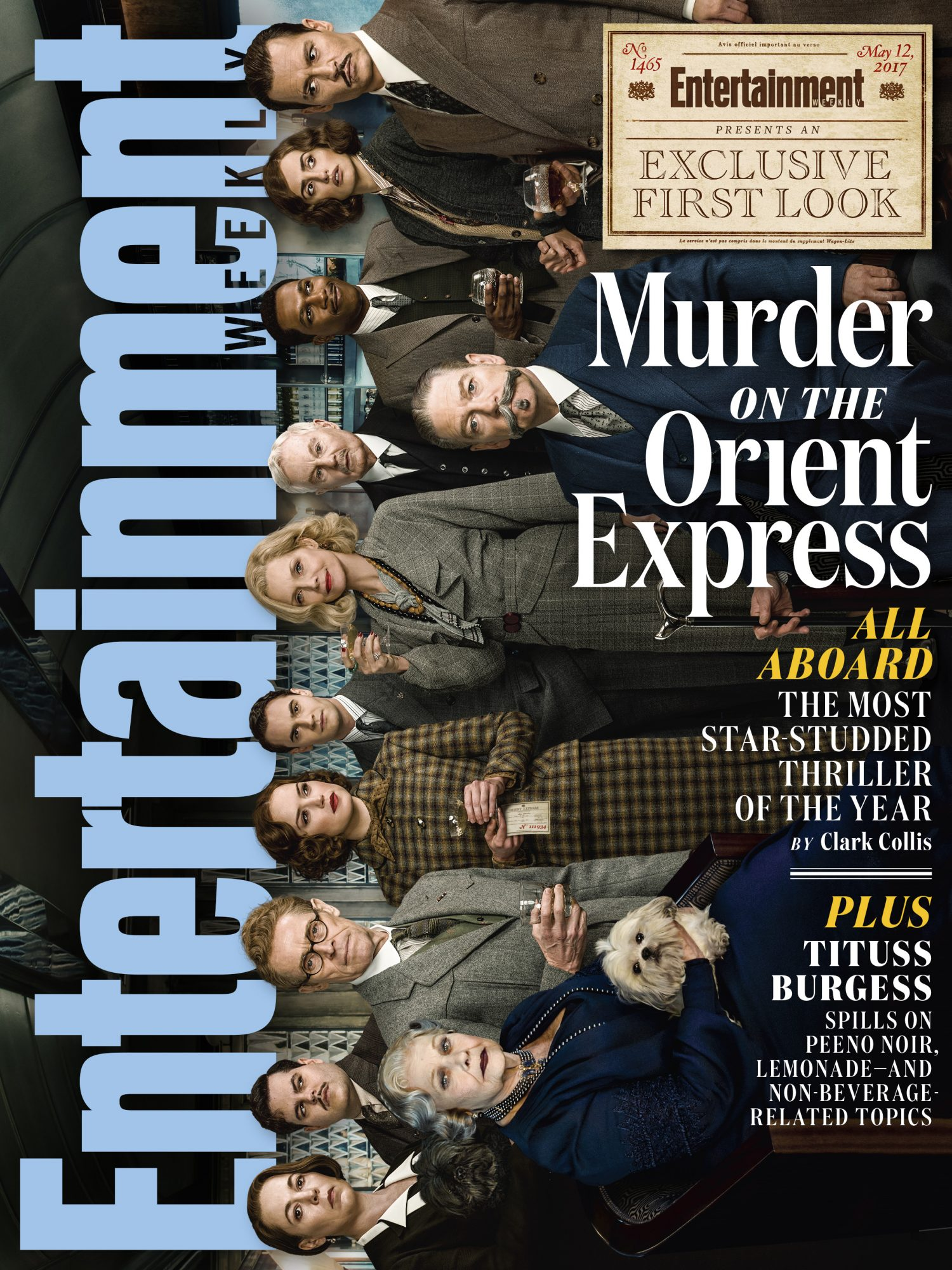 Entertainment Weekly Cover - Murder on the orient express